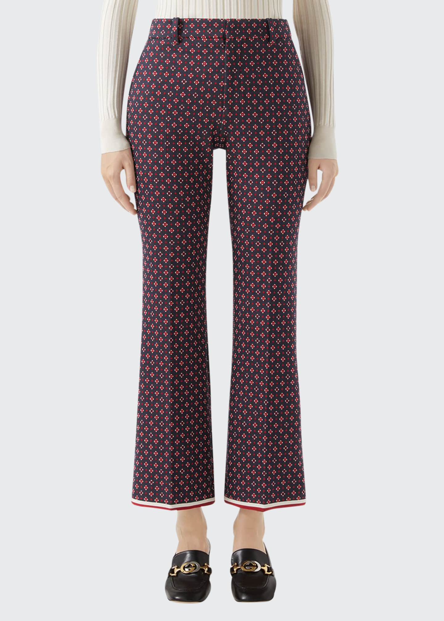 Gucci Geometric G Jacquard Bootcut Pants