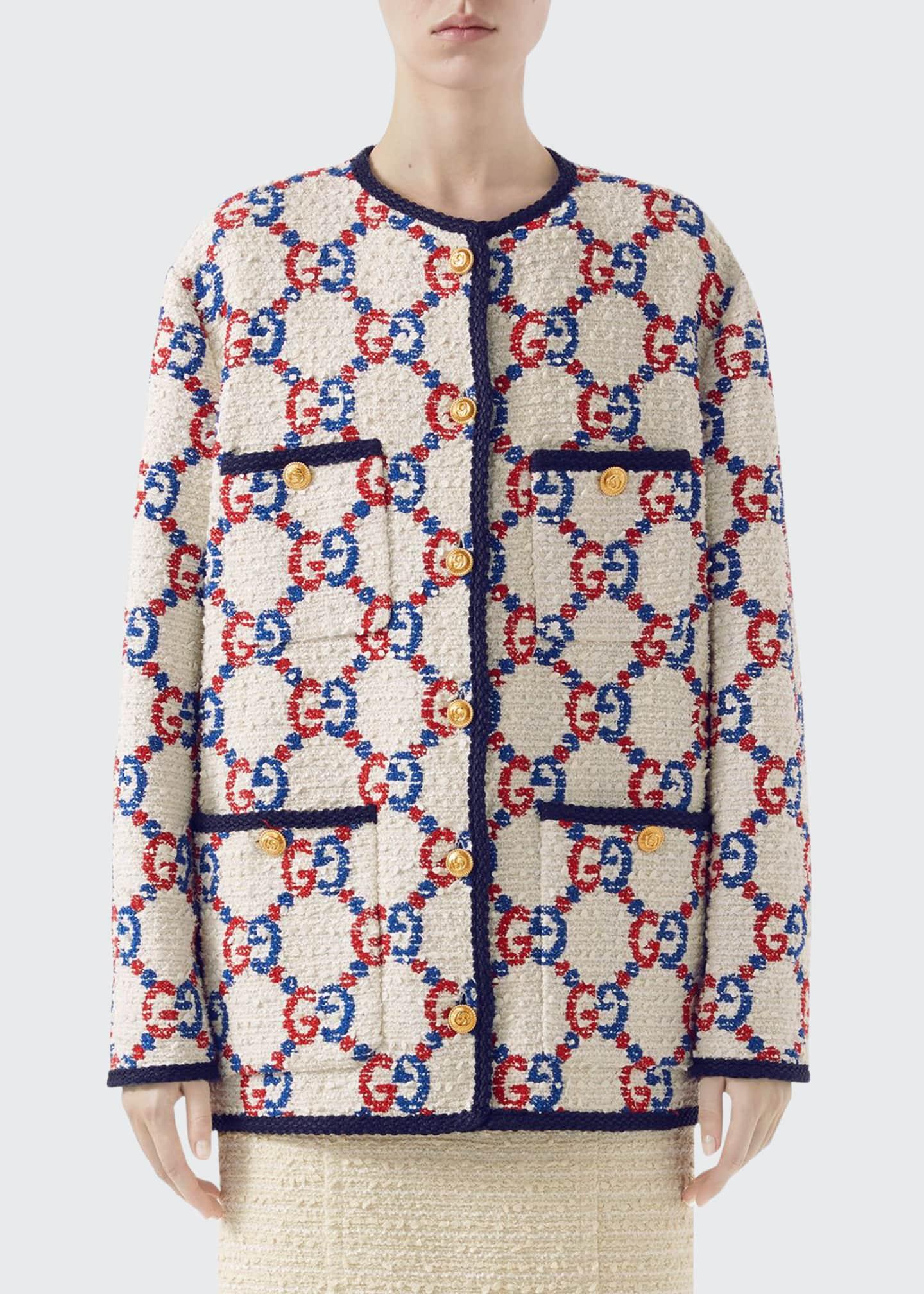 Gucci GG-Jacquard Tweed Jacket