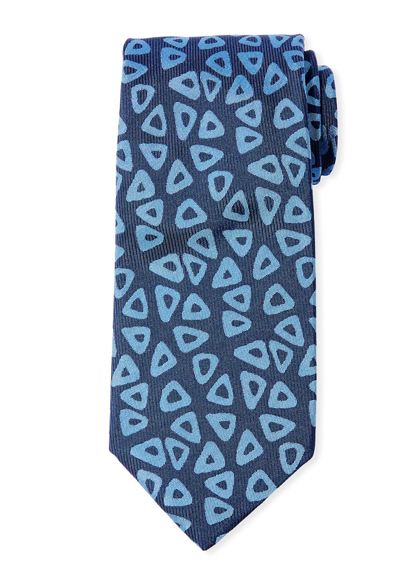 Charvet Aztec Codex Archival Silk Tie