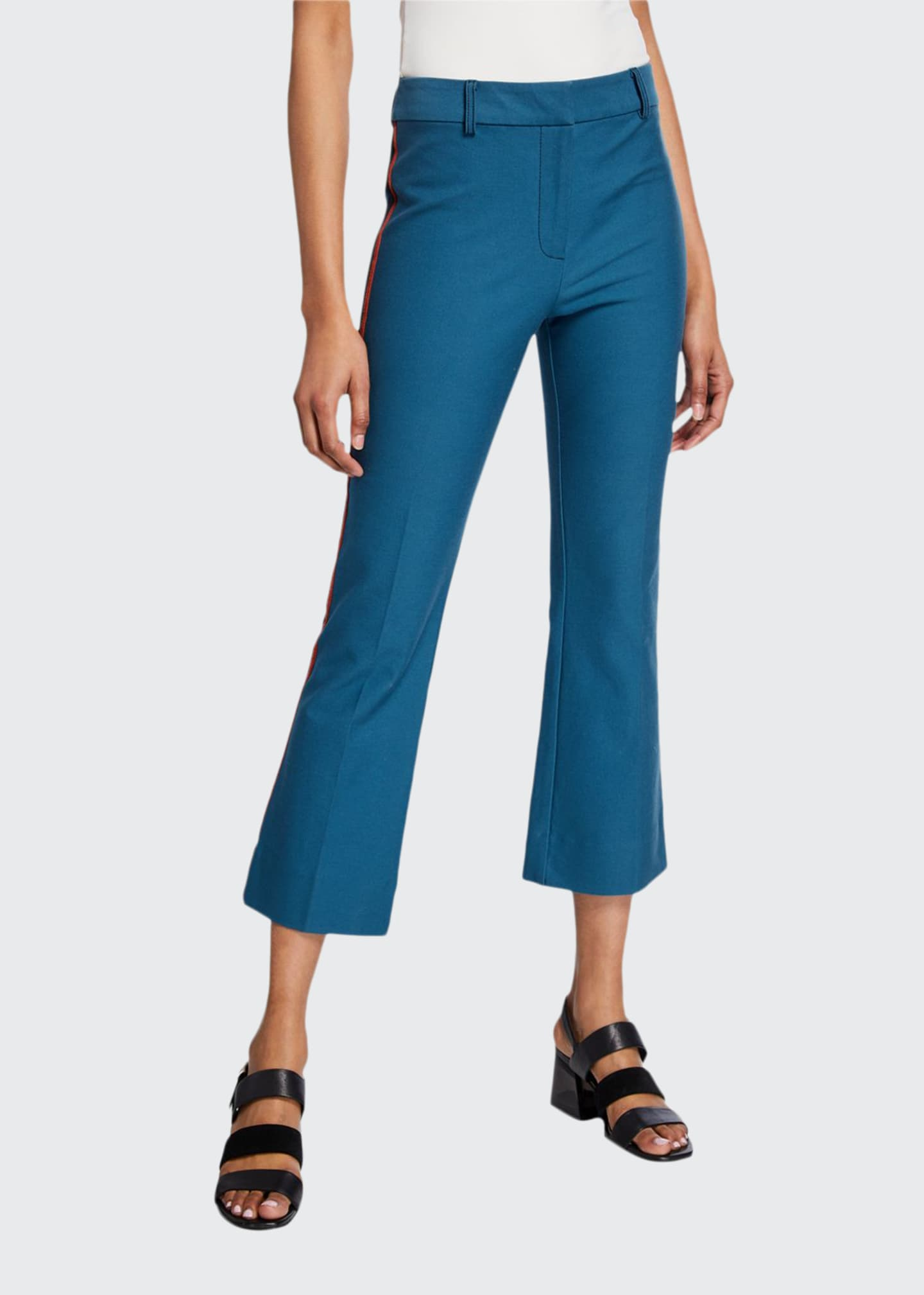 Derek Lam 10 Crosby Cropped Flare Trousers with