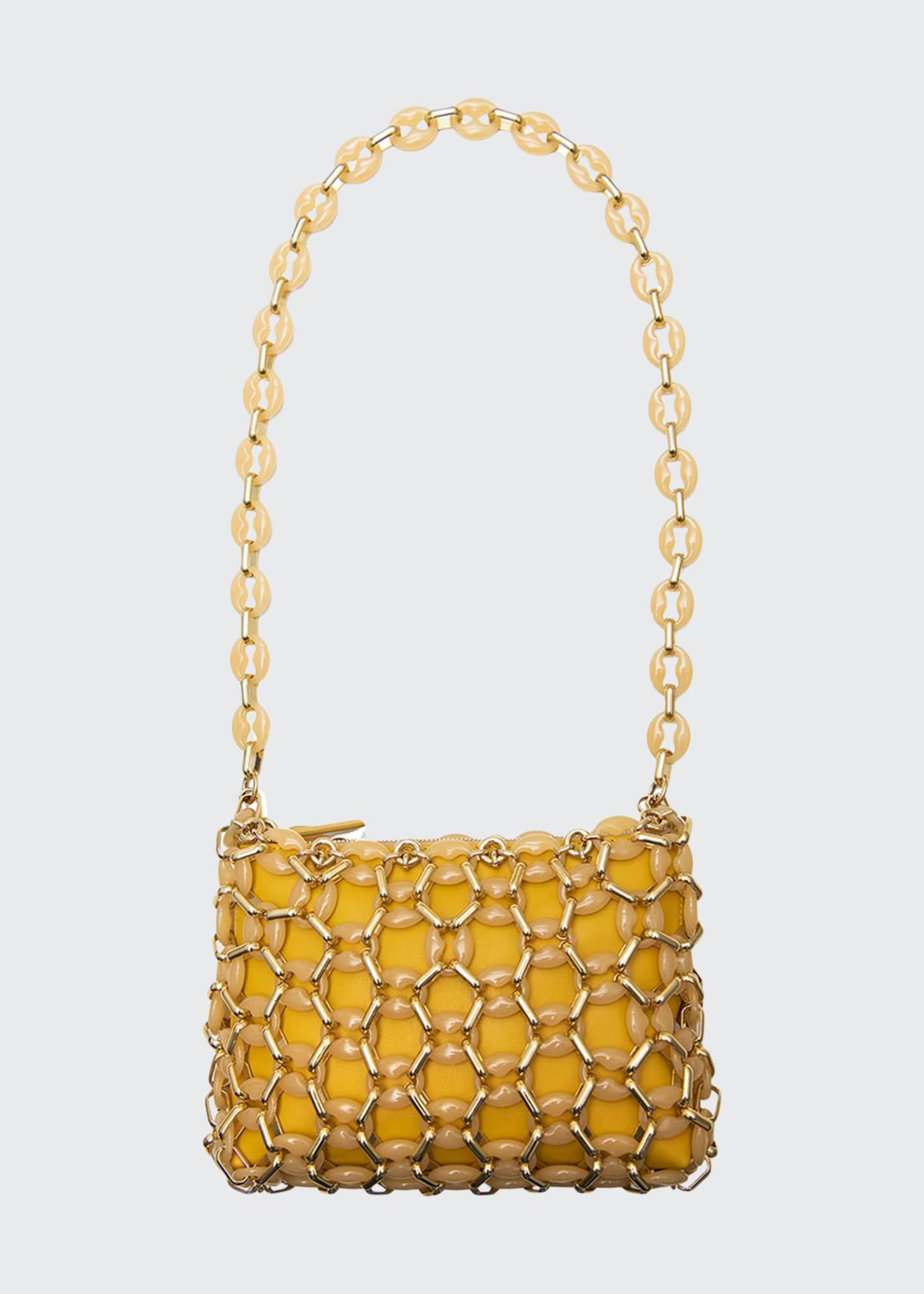BY FAR Capria Chain Shoulder Bag, Yellow