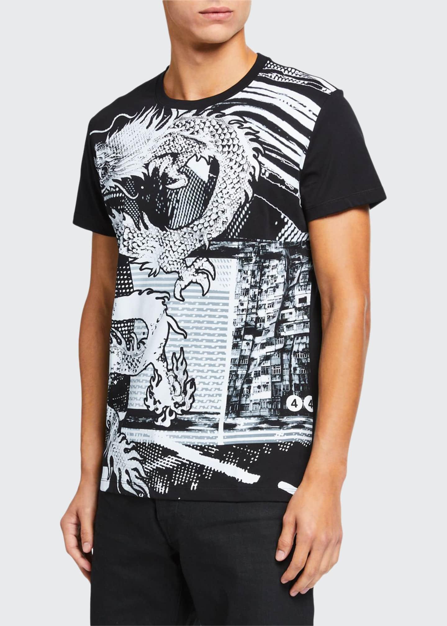 Balmain Men's Graphic Crewneck T-Shirt