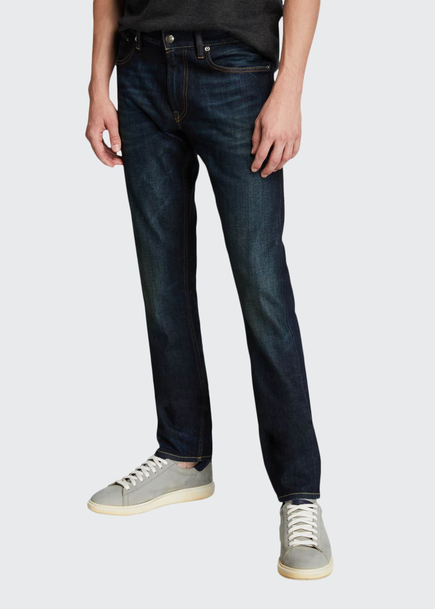 Image 1 of 3: Men's Straight Denim Jeans