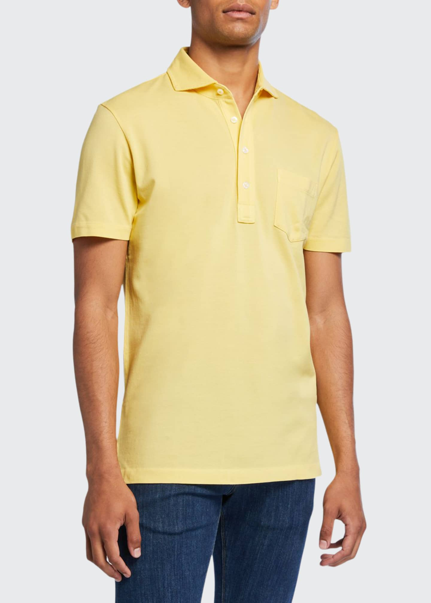 Ralph Lauren Men's Jersey Pocket Polo Shirt, Yellow