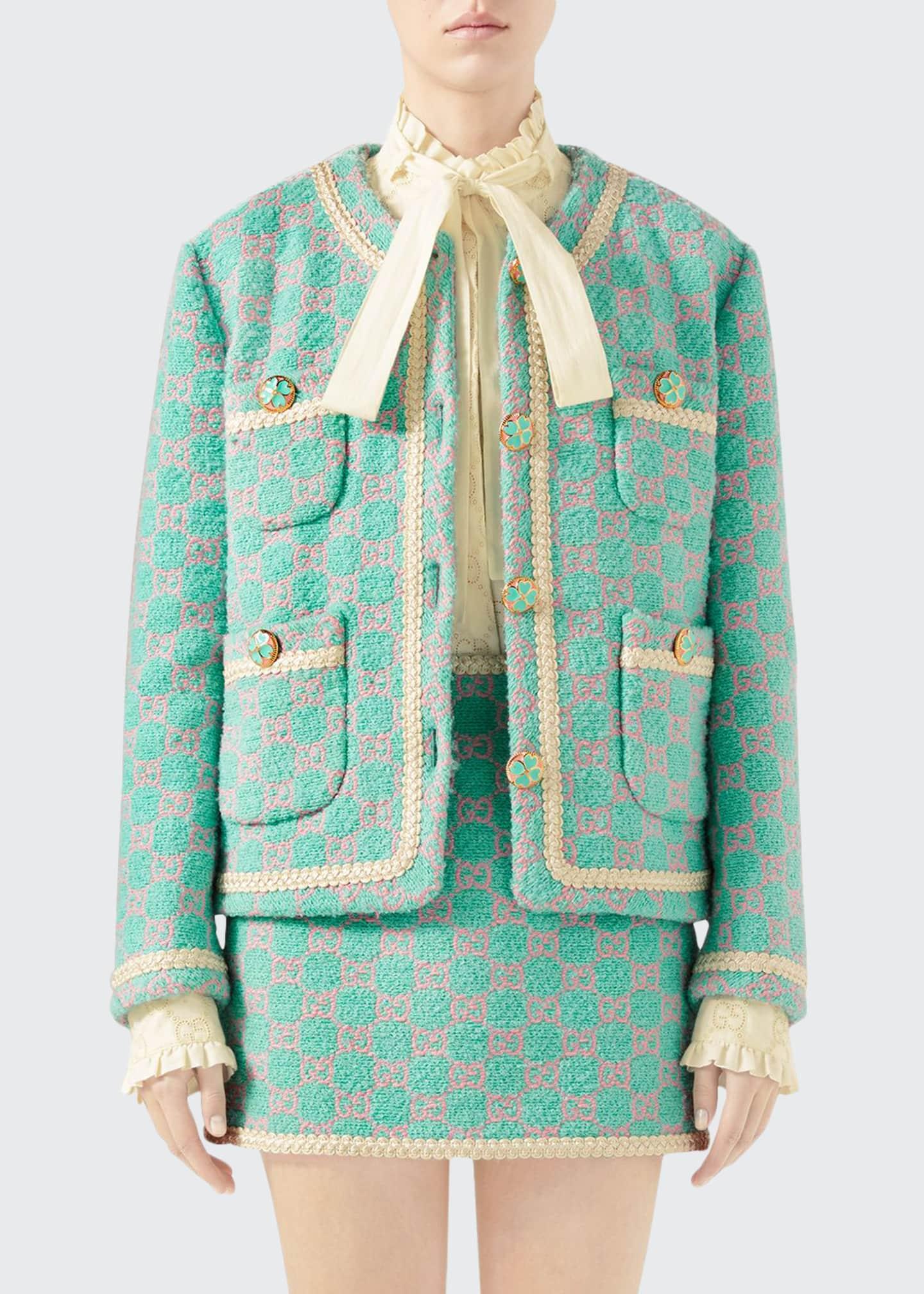 Gucci Macro GG Tweed Jacket