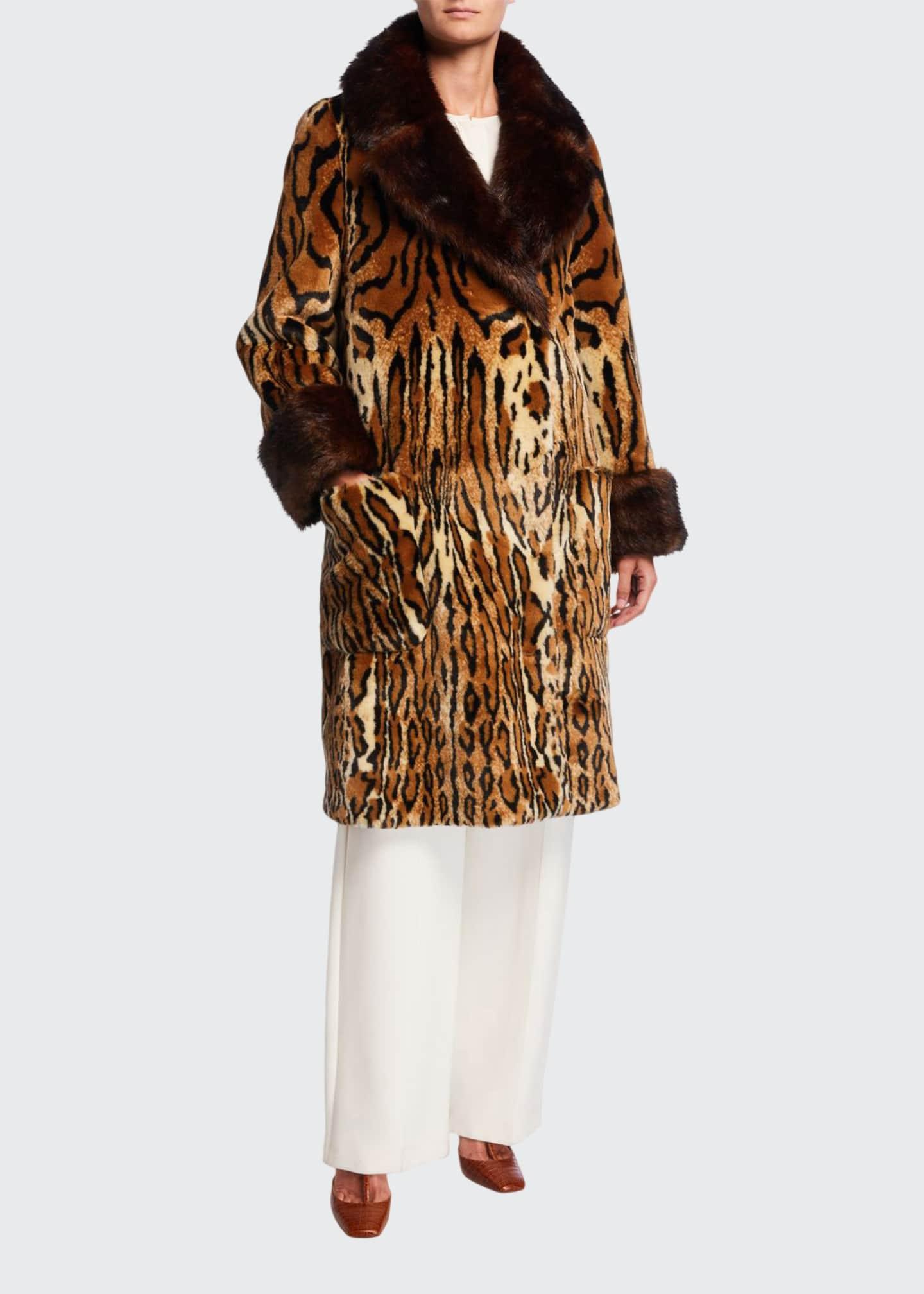 Gucci Leopard-Print Faux-Fur Coat