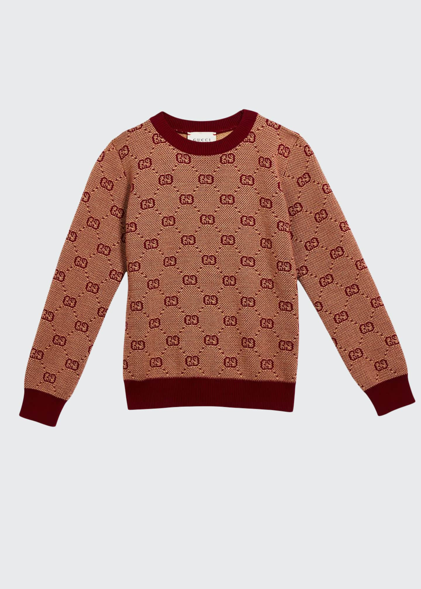 Image 1 of 1: Boy's GG Knit Sweater, Size 4-12