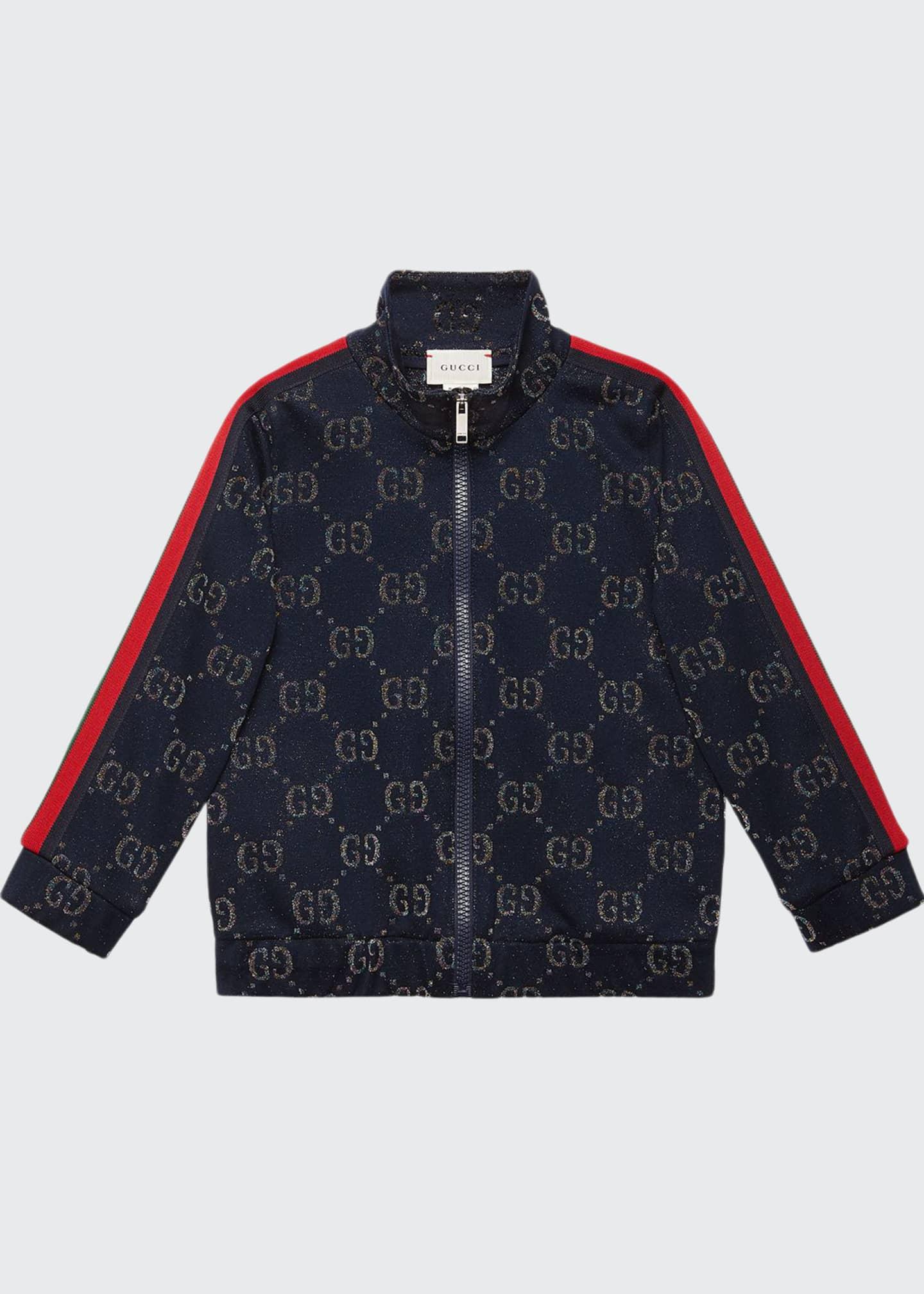 Gucci Metallic GG Jacquard Jacket w/ Web Trim