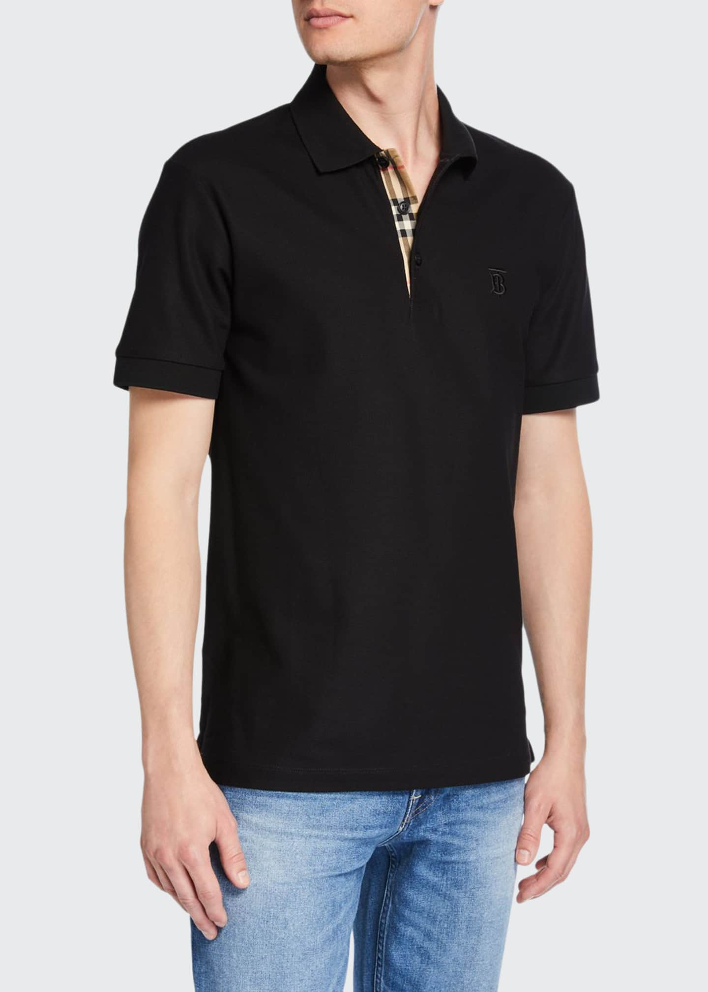 Image 1 of 2: Men's Eddie Pique Polo Shirt, Black