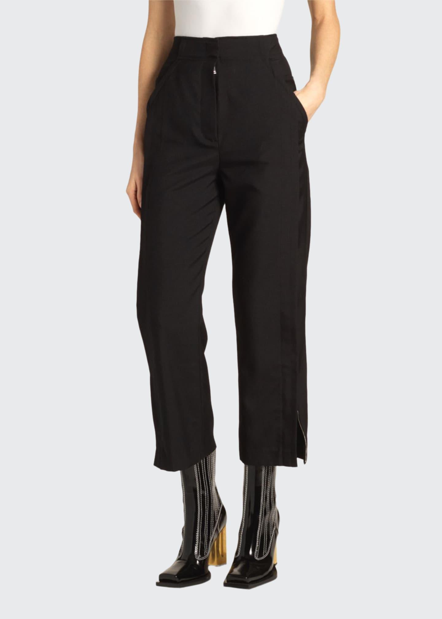 Proenza Schouler High-Rise Split-Hem Pants