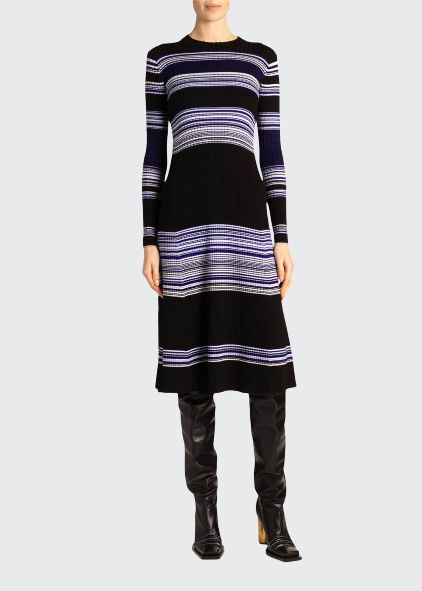 Striped Crewneck Dress by Proenza Schouler