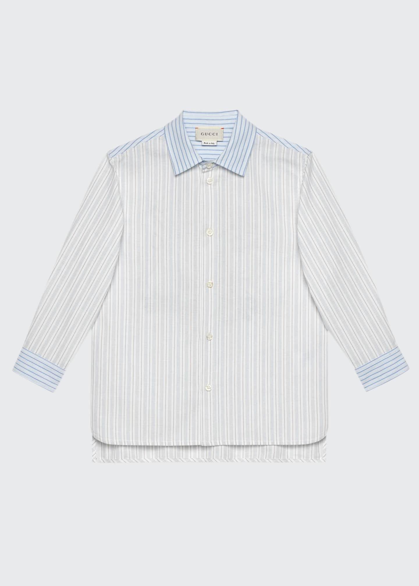Gucci Multi Oxford Stripe Button-Down Shirt w/ Maison