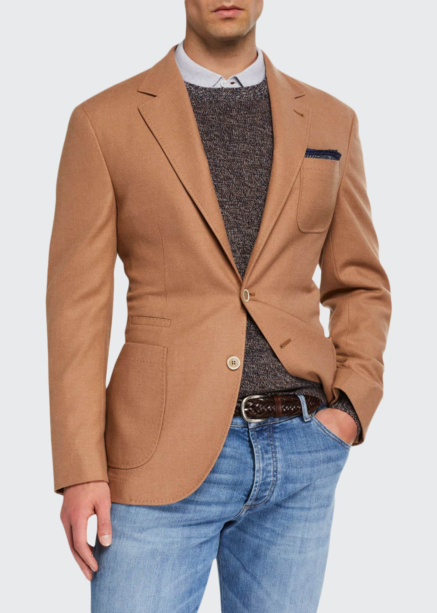 Image 1 of 3: Men's Patch-Pocket Two-Button Jacket