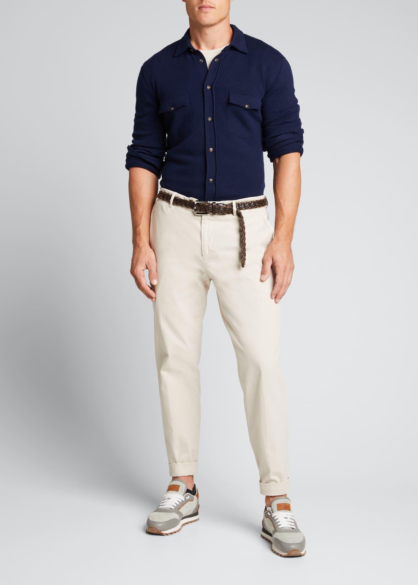 Brunello Cucinelli Men's Western-Style Shirt Cardigan
