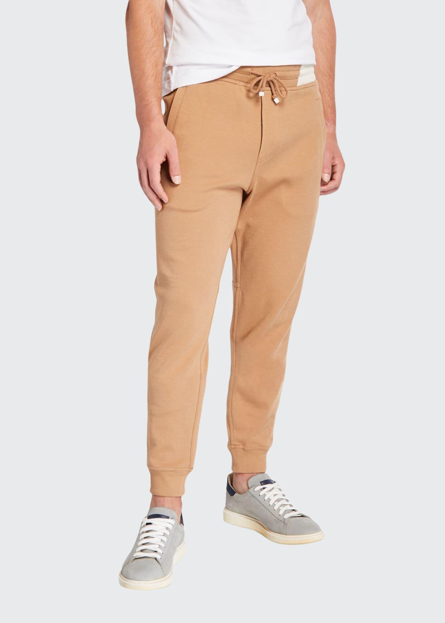 Brunello Cucinelli Men's Nylon-Trim Twill Jogger Pants
