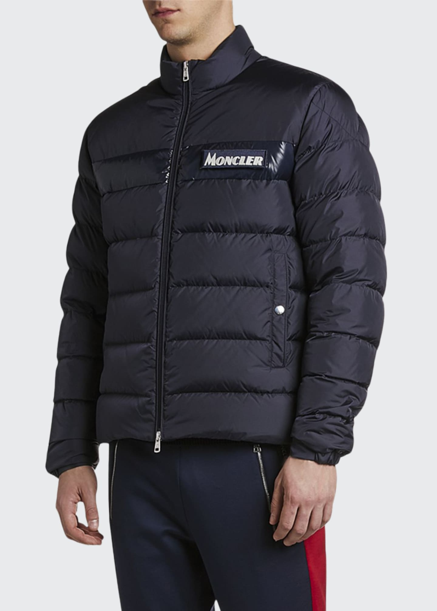 Moncler Men's Servieres Zip-Up Puffer Jacket