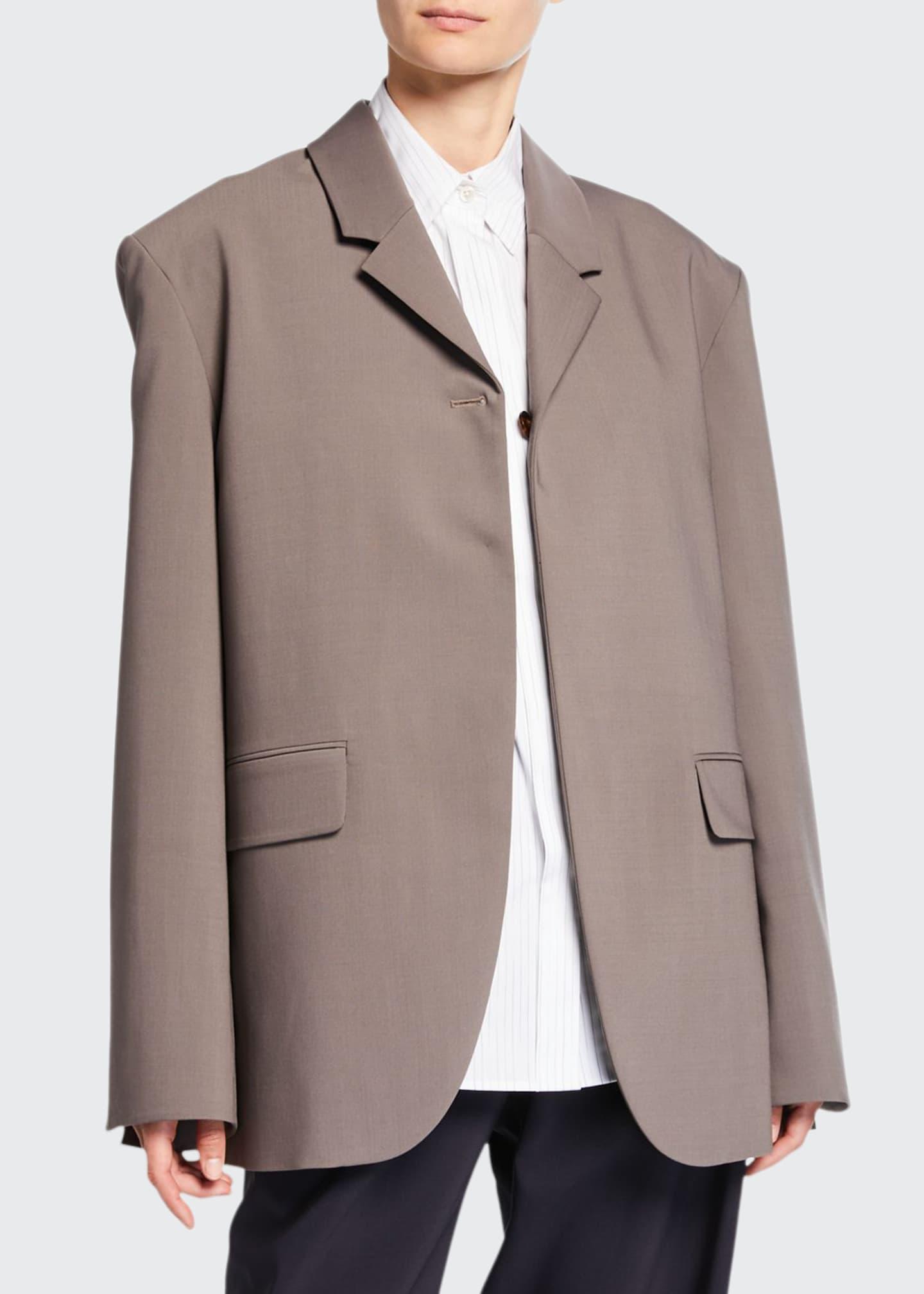 Deveaux New York Kyle Bonded Wool Jacket
