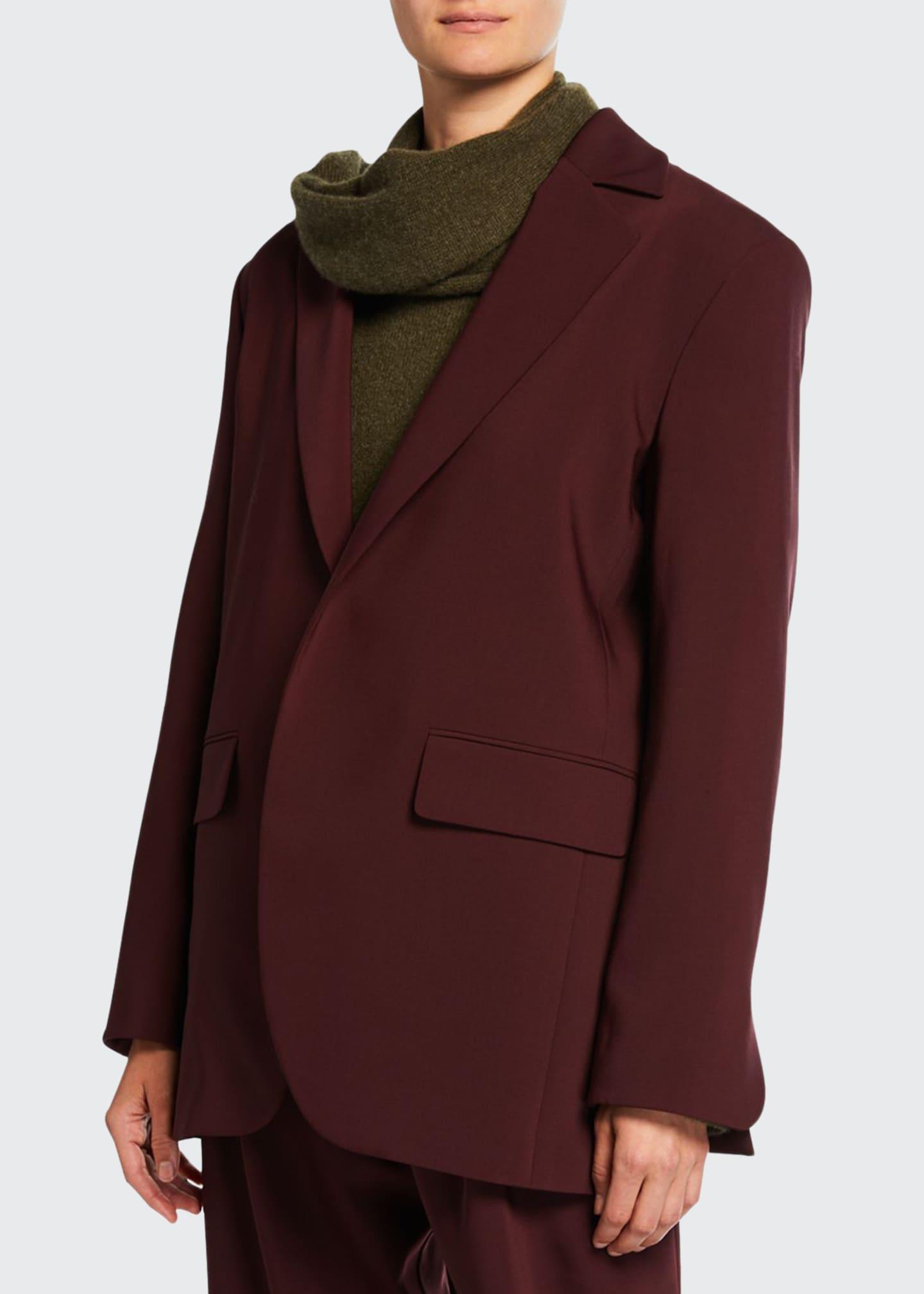 Deveaux New York Elongated Bonded Wool Jacket