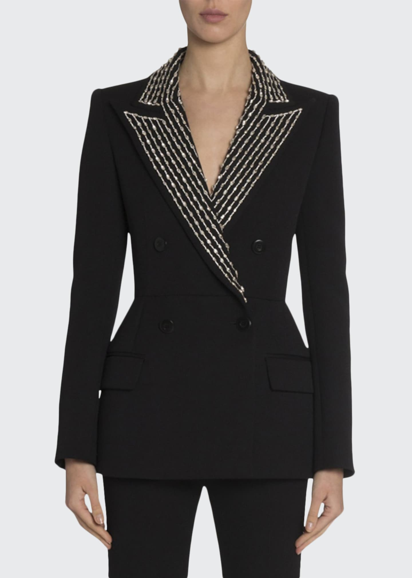 Givenchy Crystal-Lapel Blazer
