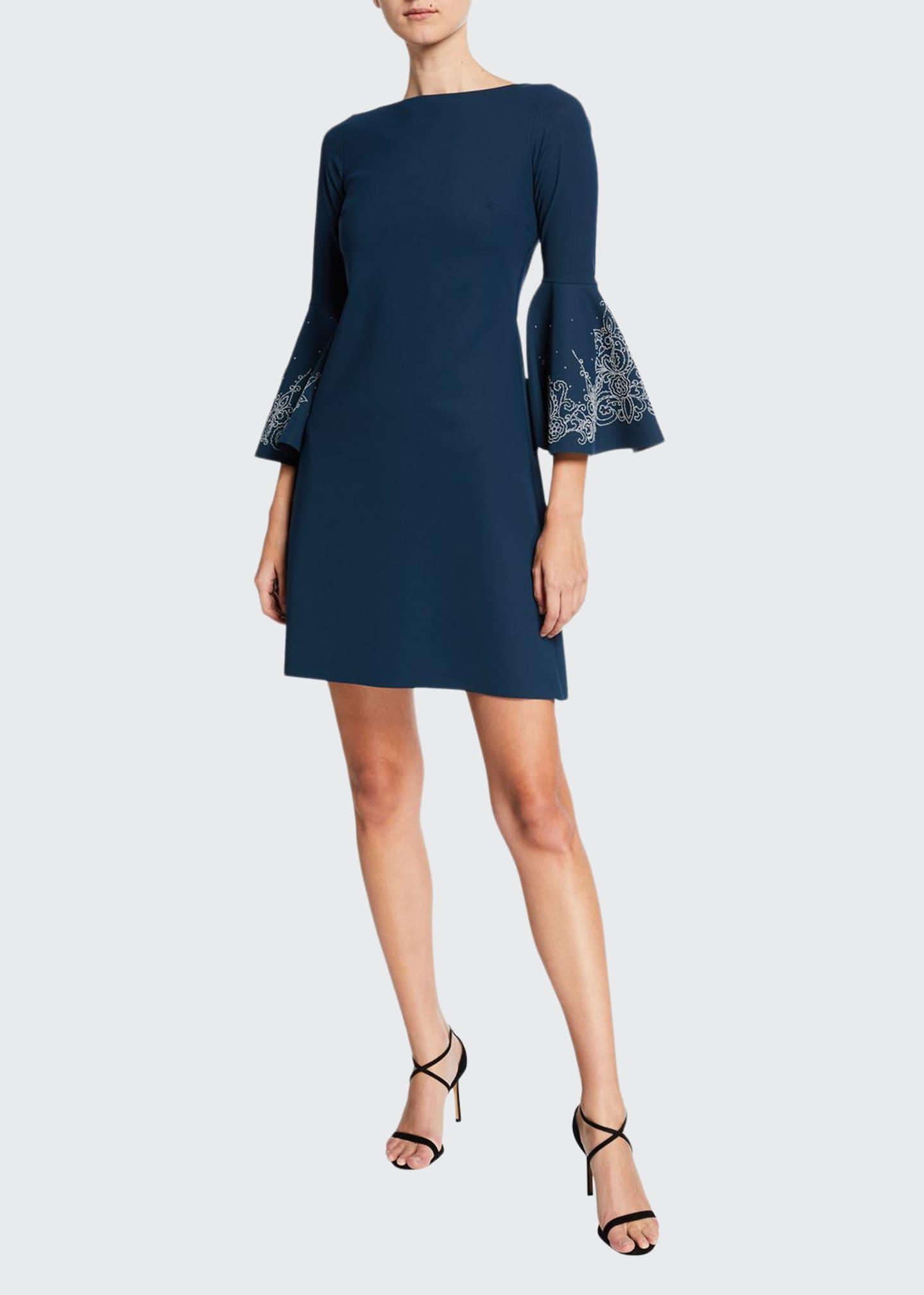 Chiara Boni La Petite Robe Natalia Bell-Sleeve Dress