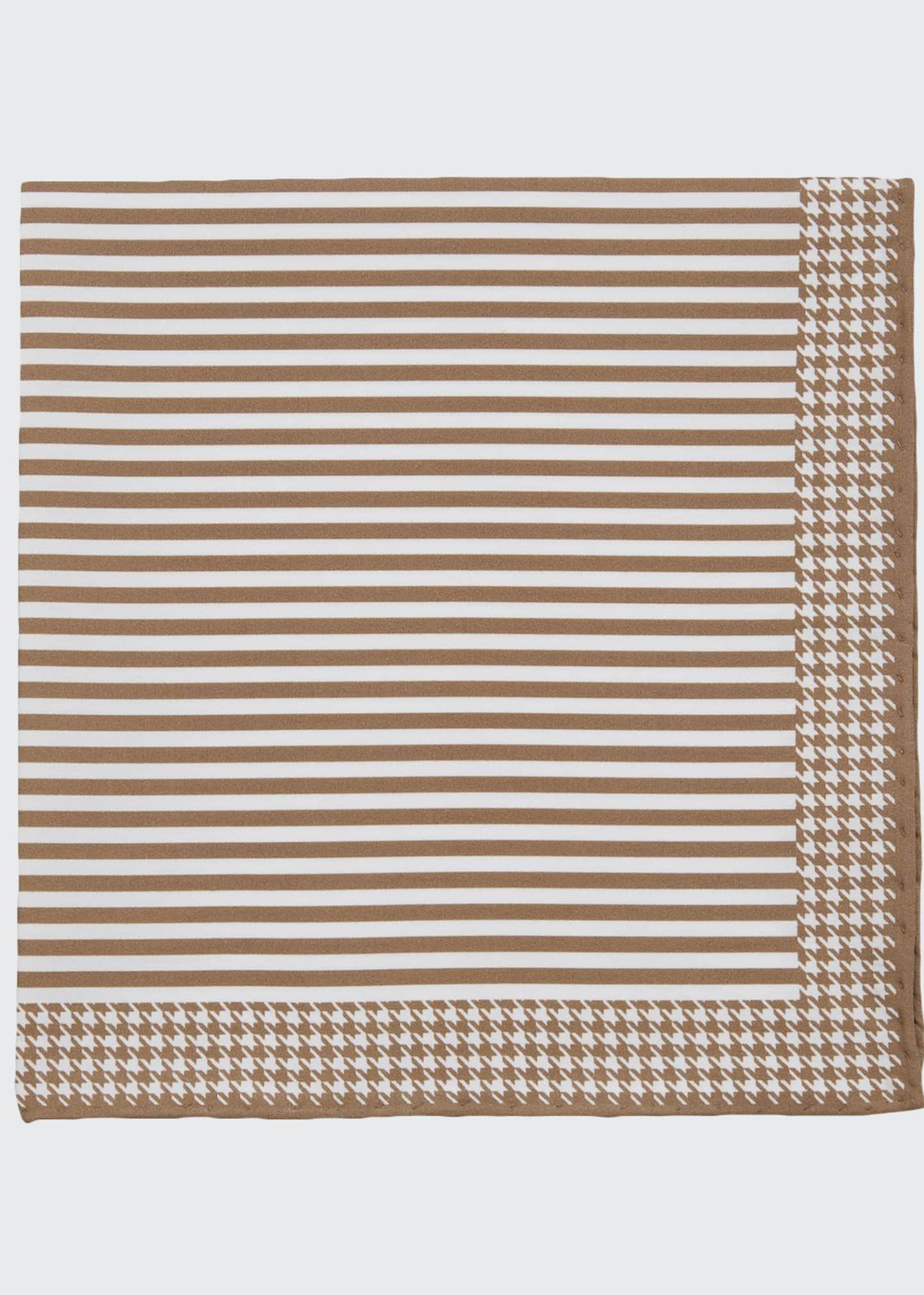 Brunello Cucinelli Men's Thin Stripes Pocket Square