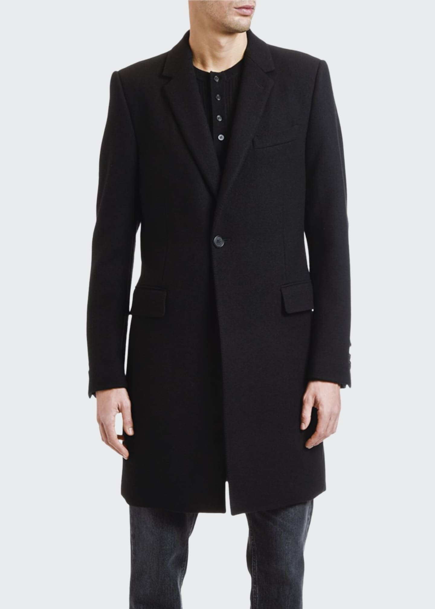 Dolce & Gabbana Men's Solid Wool-Blend Topcoat