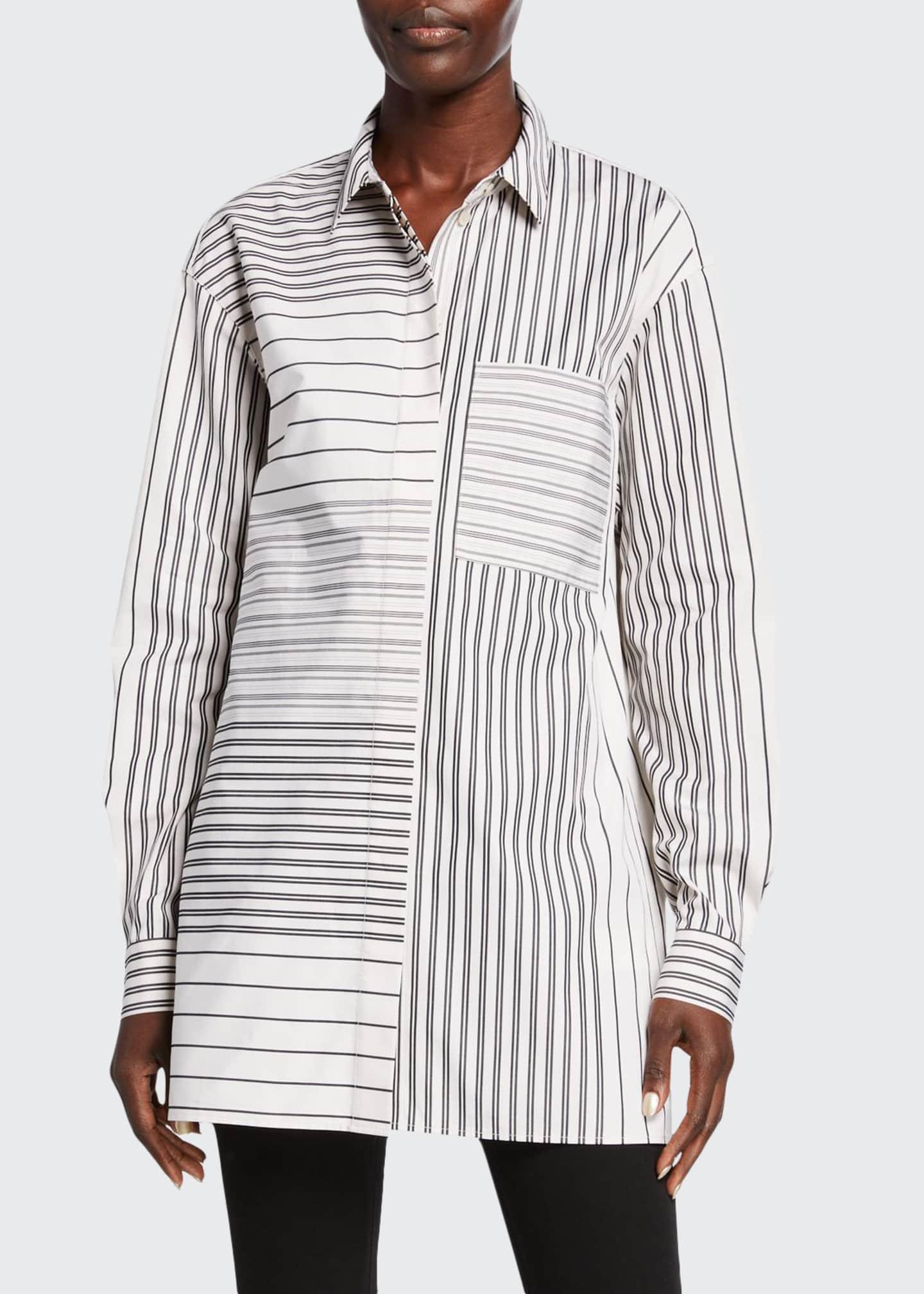 Lafayette 148 New York Maston Transcendent Stripe Cotton