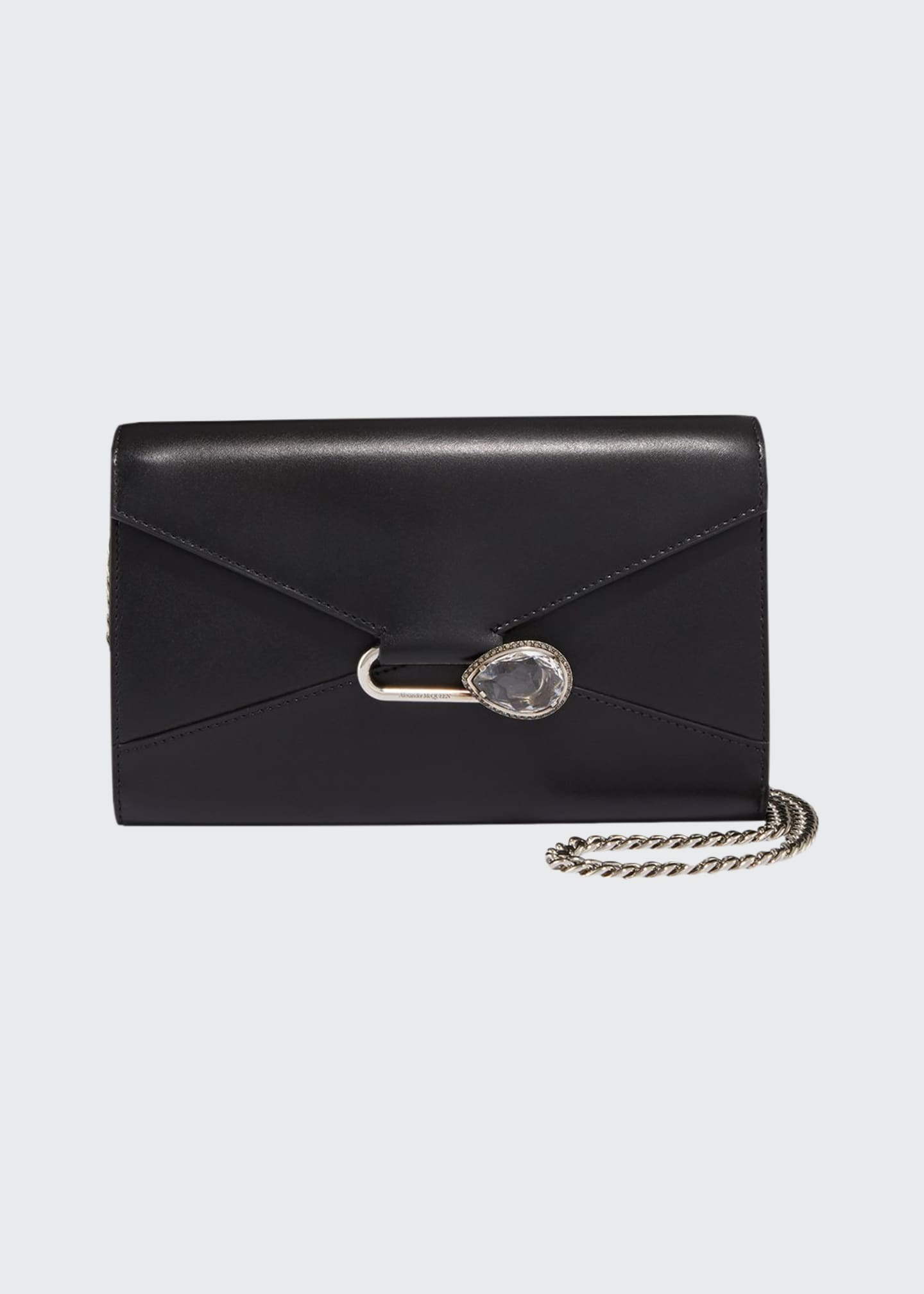 Image 1 of 3: Mini Pin Leather Clutch Bag