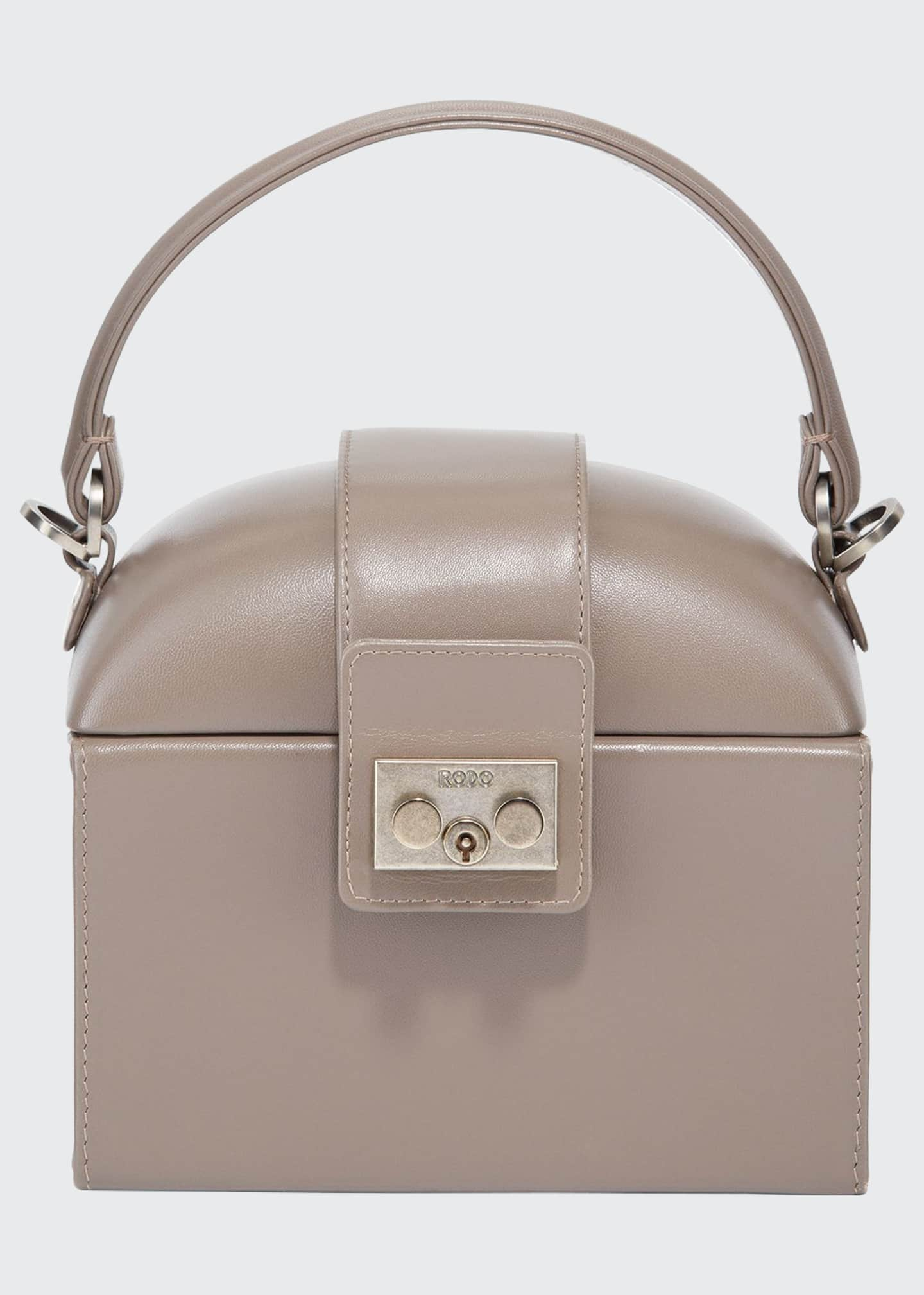 RODO Leather Lunchbox Top Handle Bag