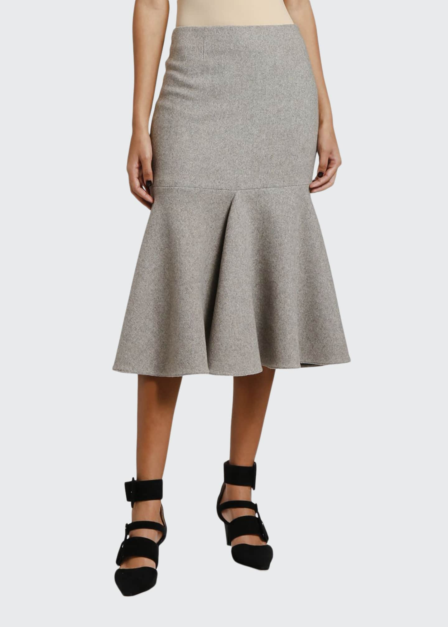 Giorgio Armani Cashmere Jersey Flounce Skirt