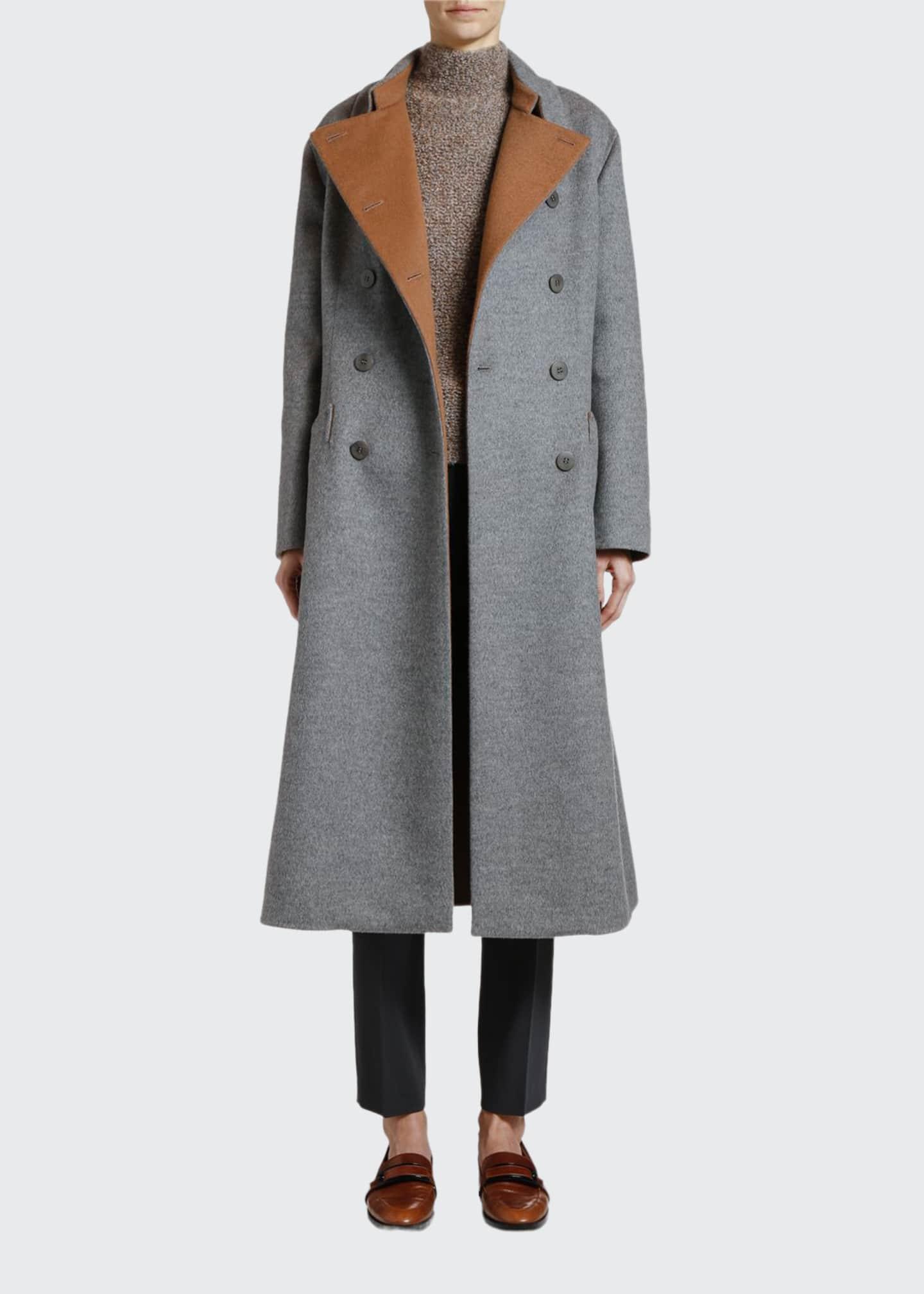 Giorgio Armani Double-Face Cashmere Coat