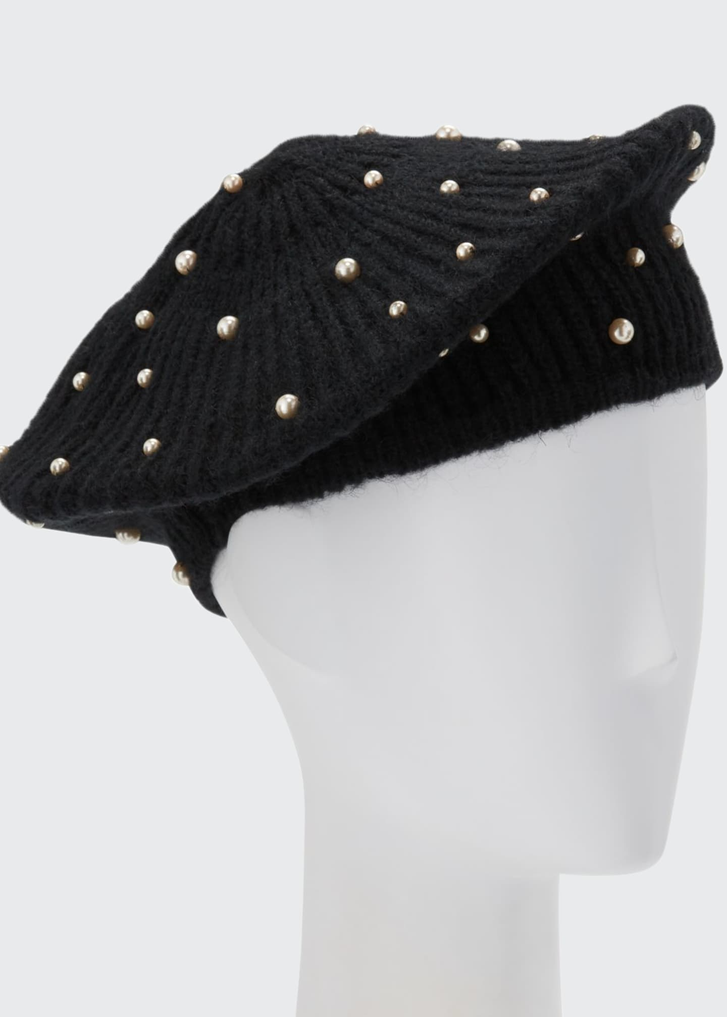 Image 1 of 1: Coco Mohair Beret w/ Swarovski Pearls
