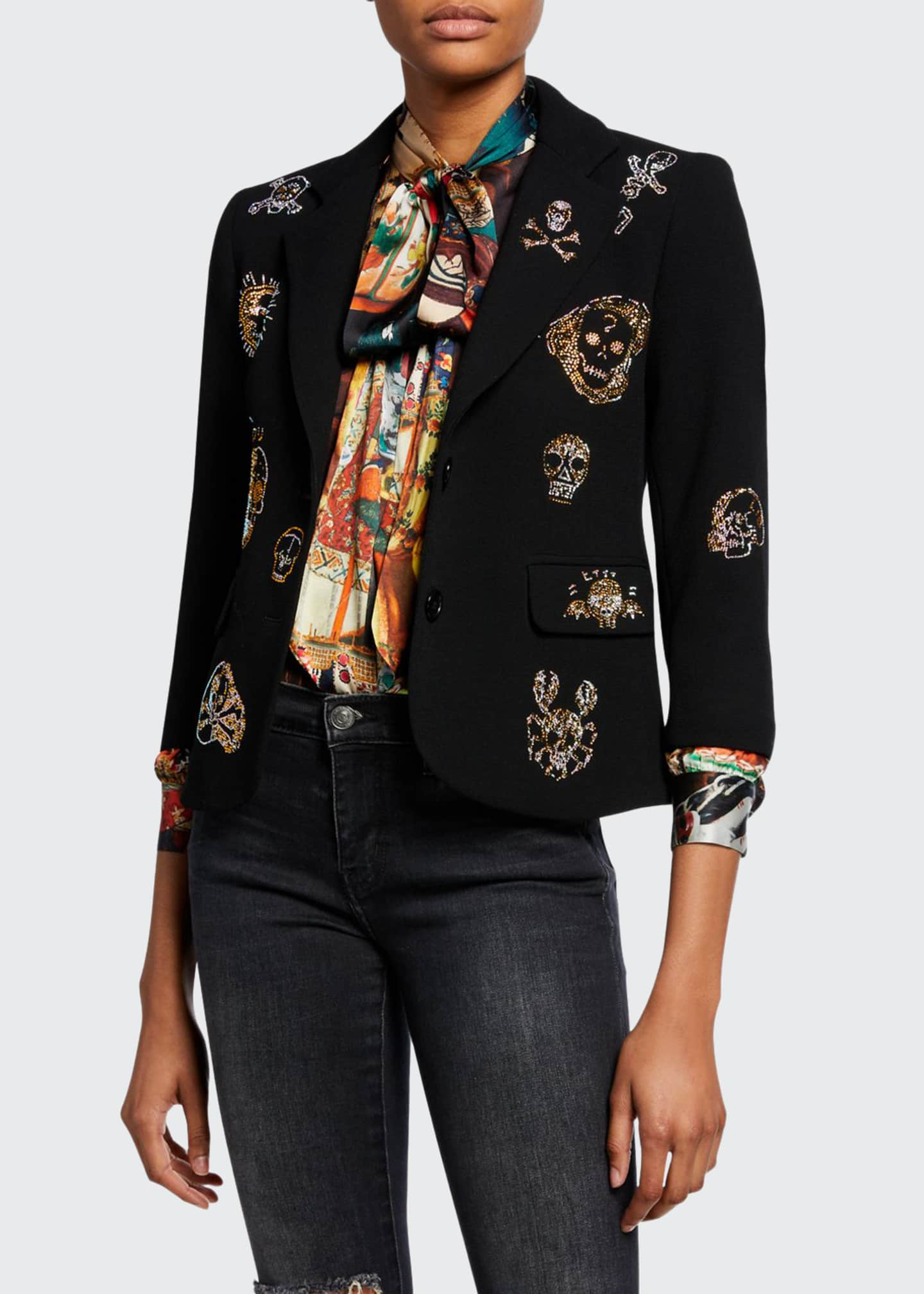 Libertine Be True to Your Skull Jeweled Blazer