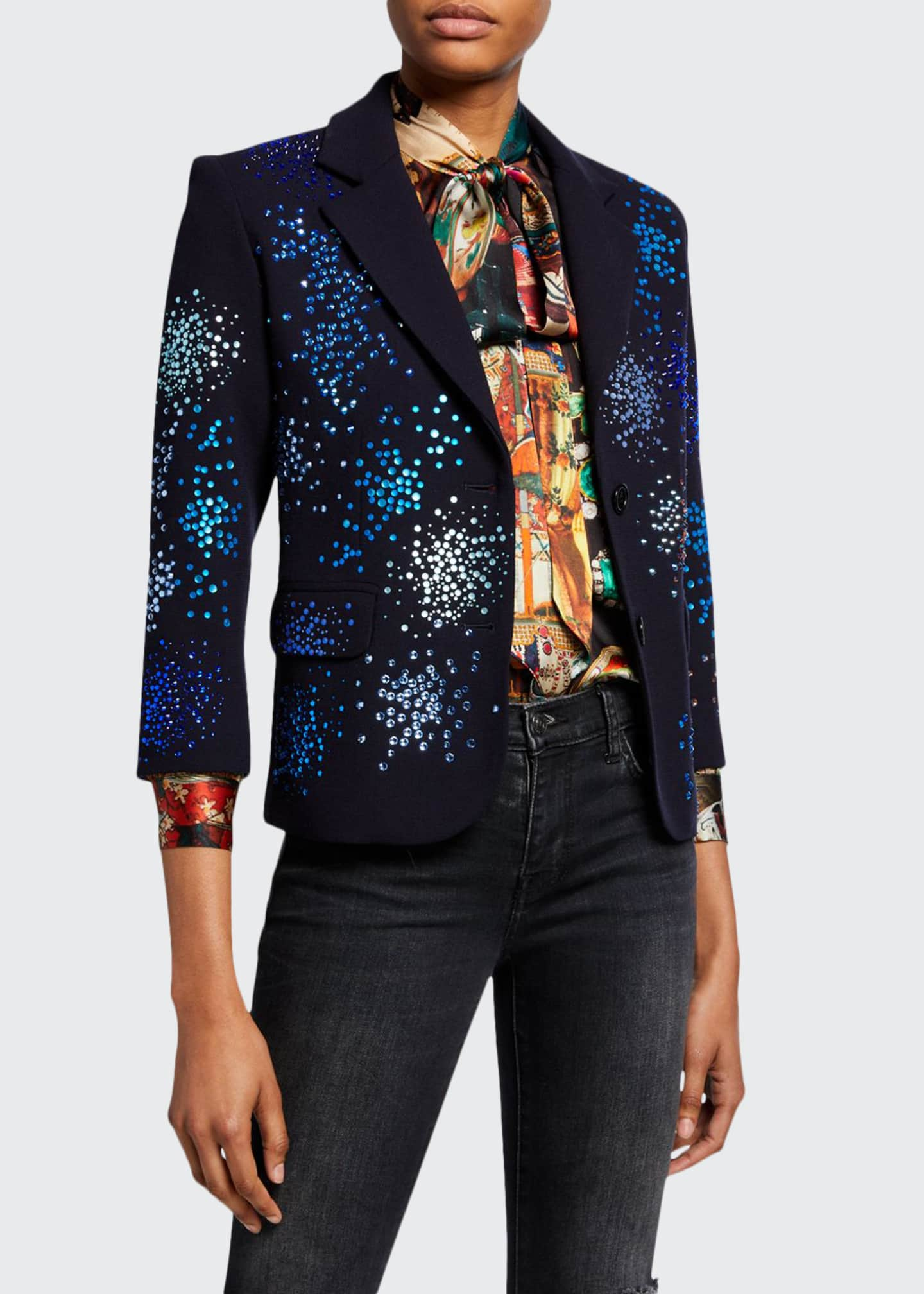 Libertine Mo' Monet Mo' Problems Sequin Embellished Blazer