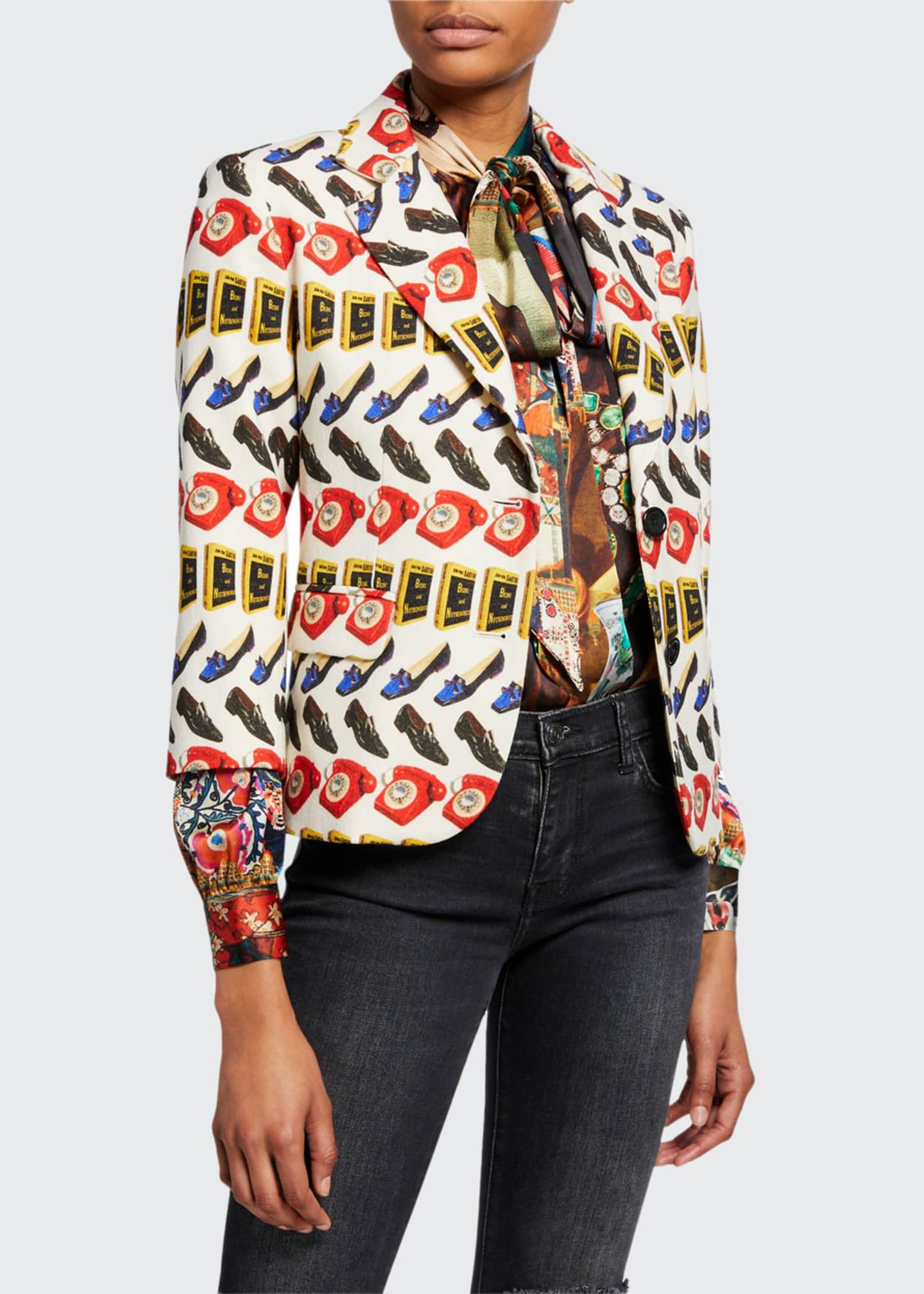 Libertine Being and Nothingness Wool Blazer Jacket
