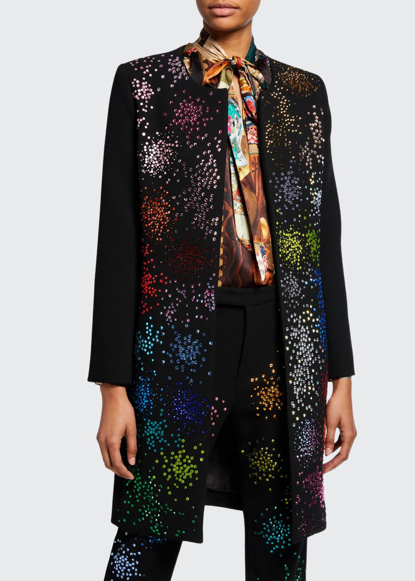 Libertine Mo' Monet Mo' Problems Bead-Embellished Duster Coat