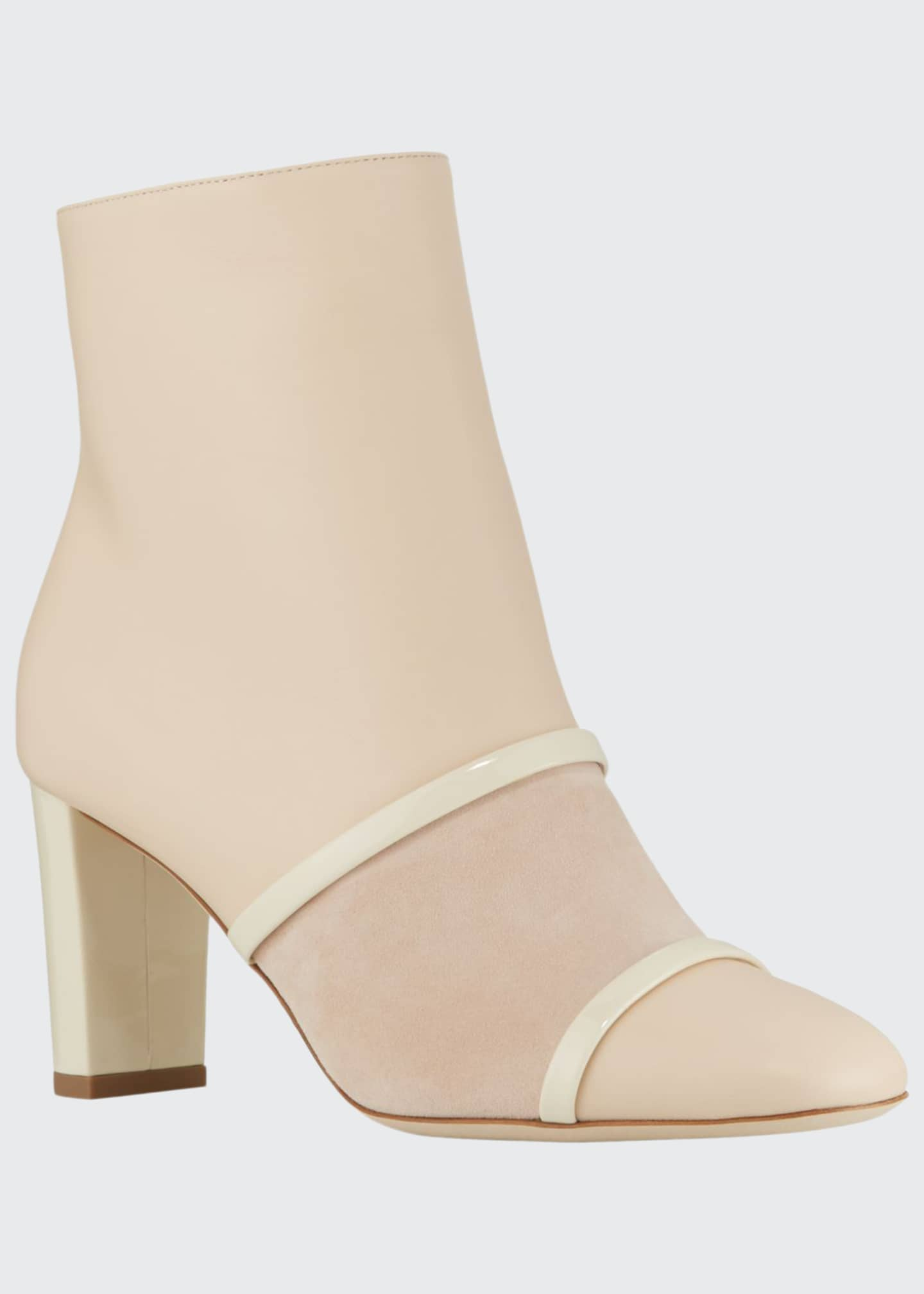 Malone Souliers Dakota Leather and Suede Booties