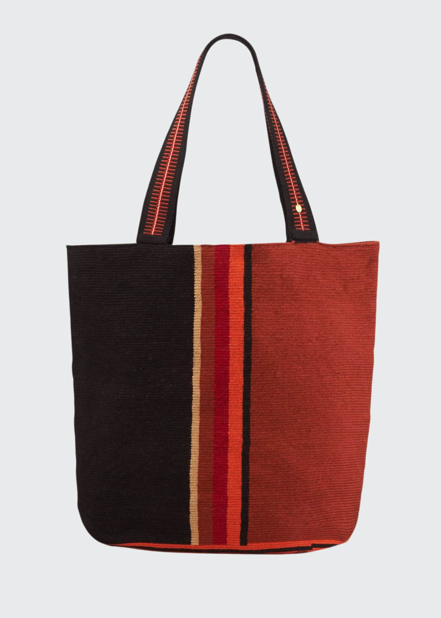Image 1 of 3: Men's Colorblock Woven Tote Bag