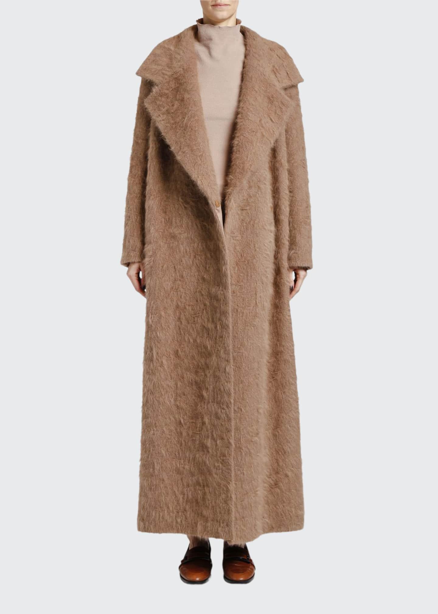 Giorgio Armani Mohair Blend Robe Coat