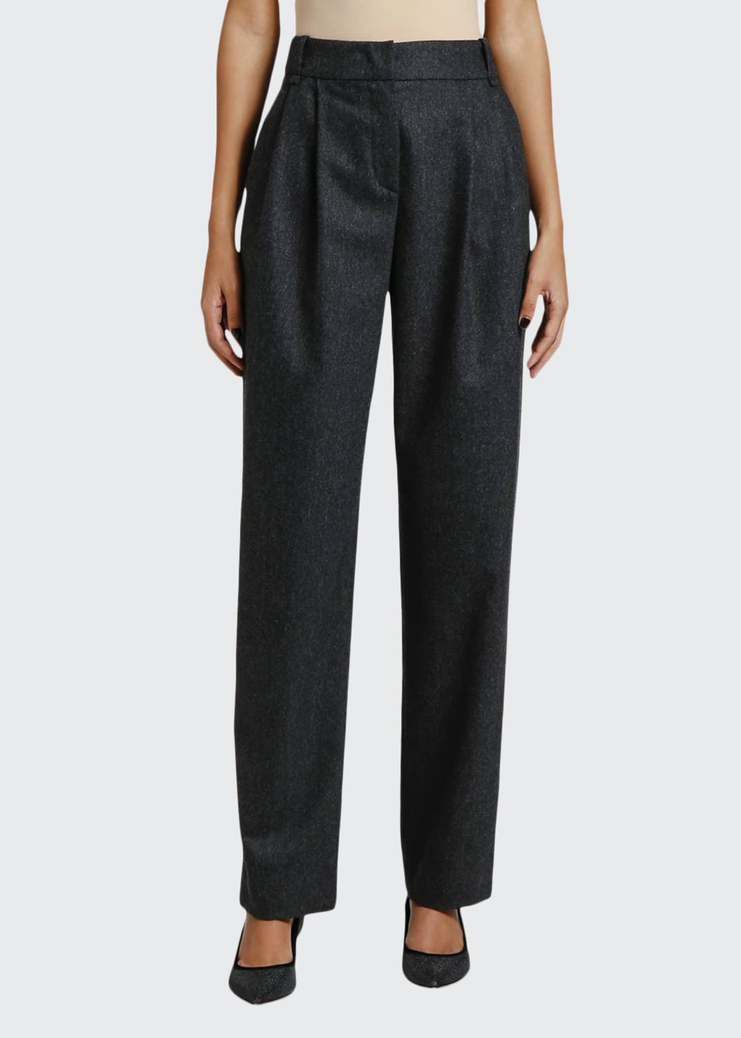 Giorgio Armani Pleated Flannel Pants