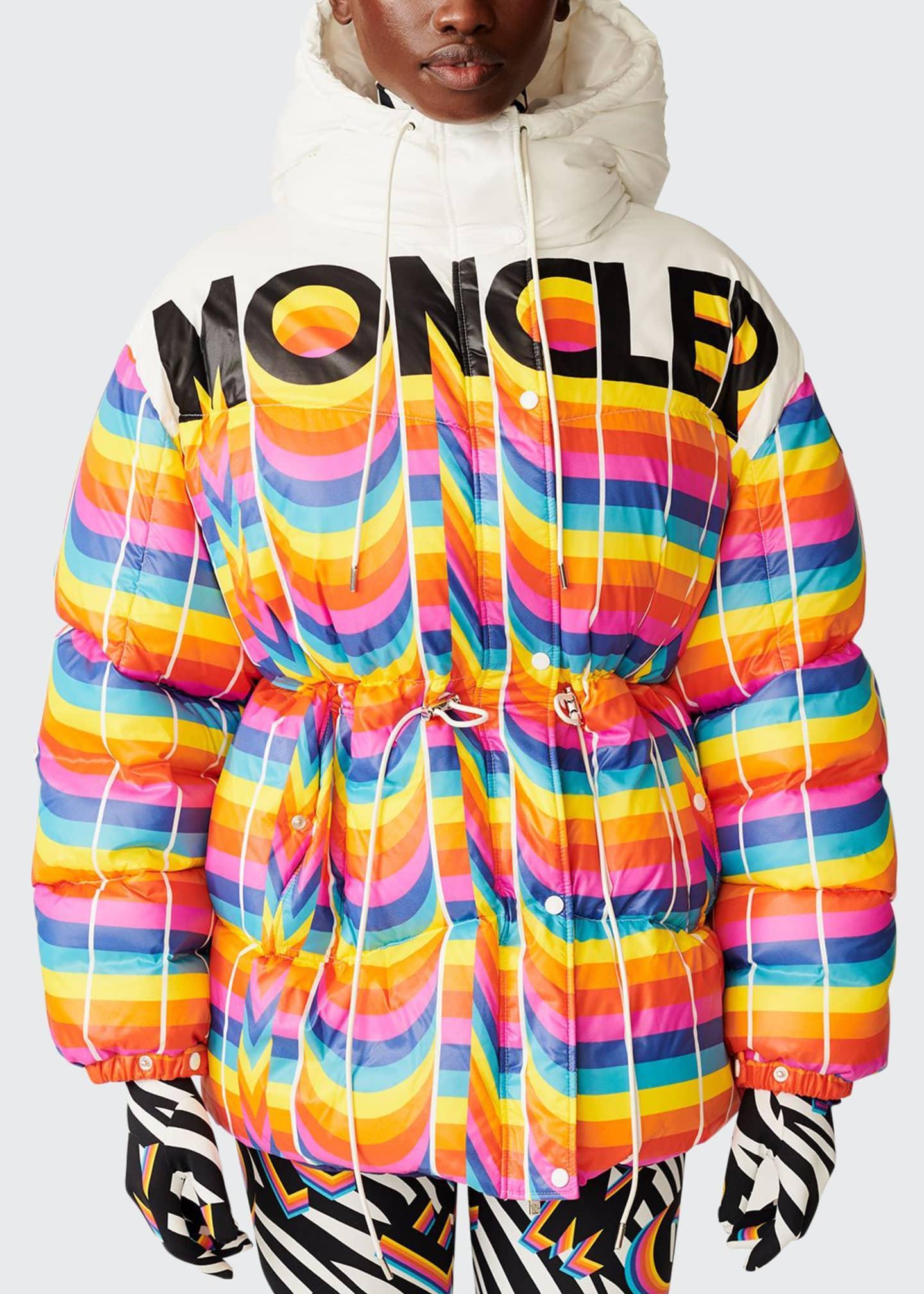 Moncler Genius Richard Quinn Hooded Rainbow Jacket