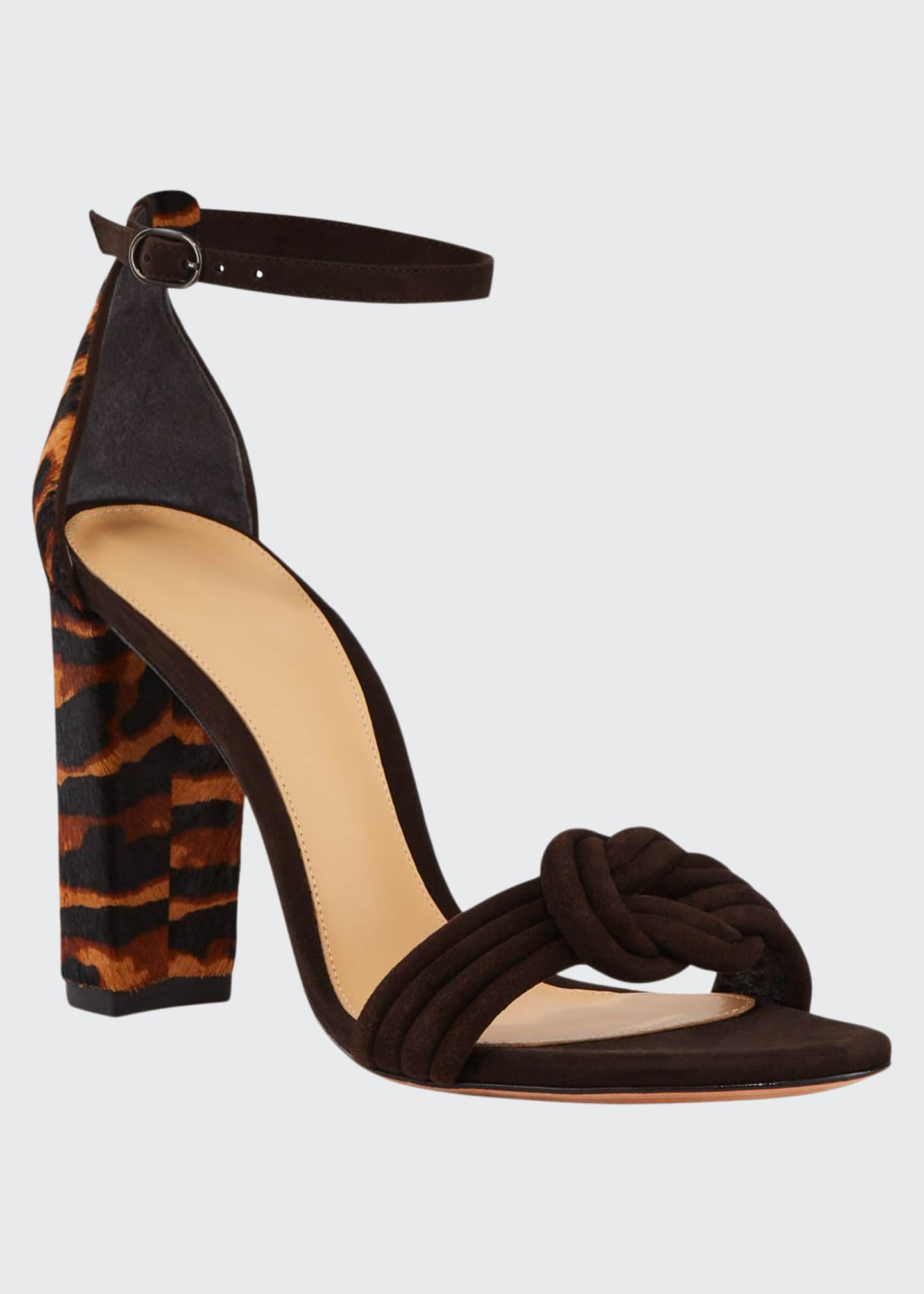 Alexandre Birman Vicky Tiger Calf Hair Sandals