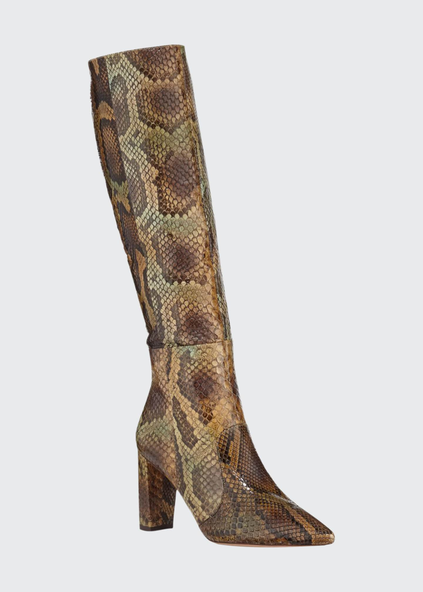 Image 1 of 3: Elisa Exotic Knee Boots
