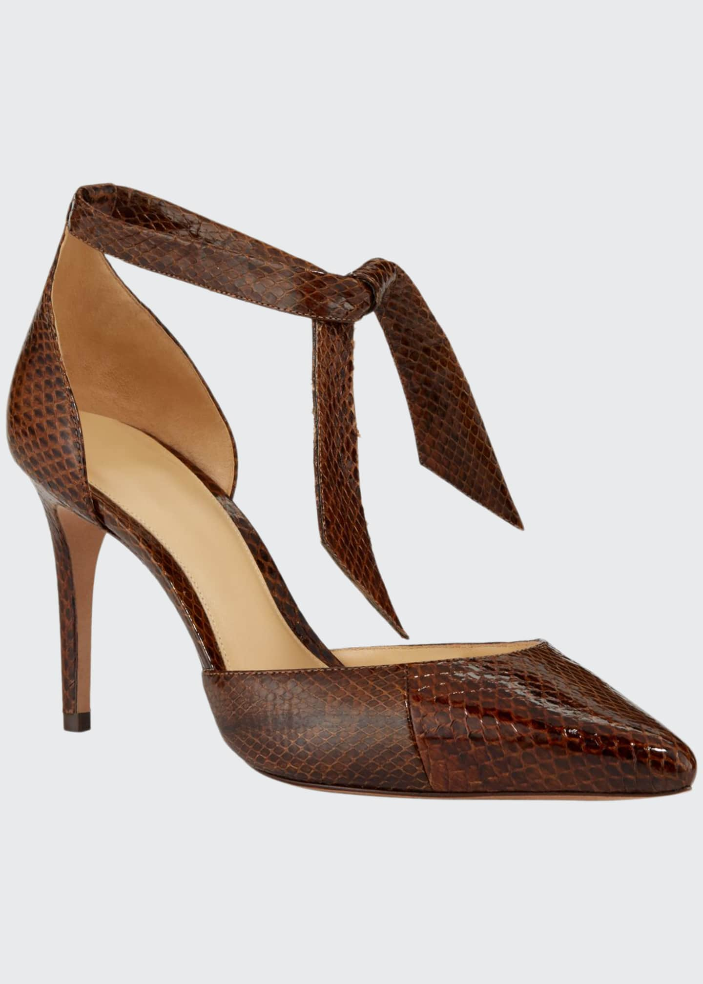 Alexandre Birman New Clarita Snakeskin Pumps