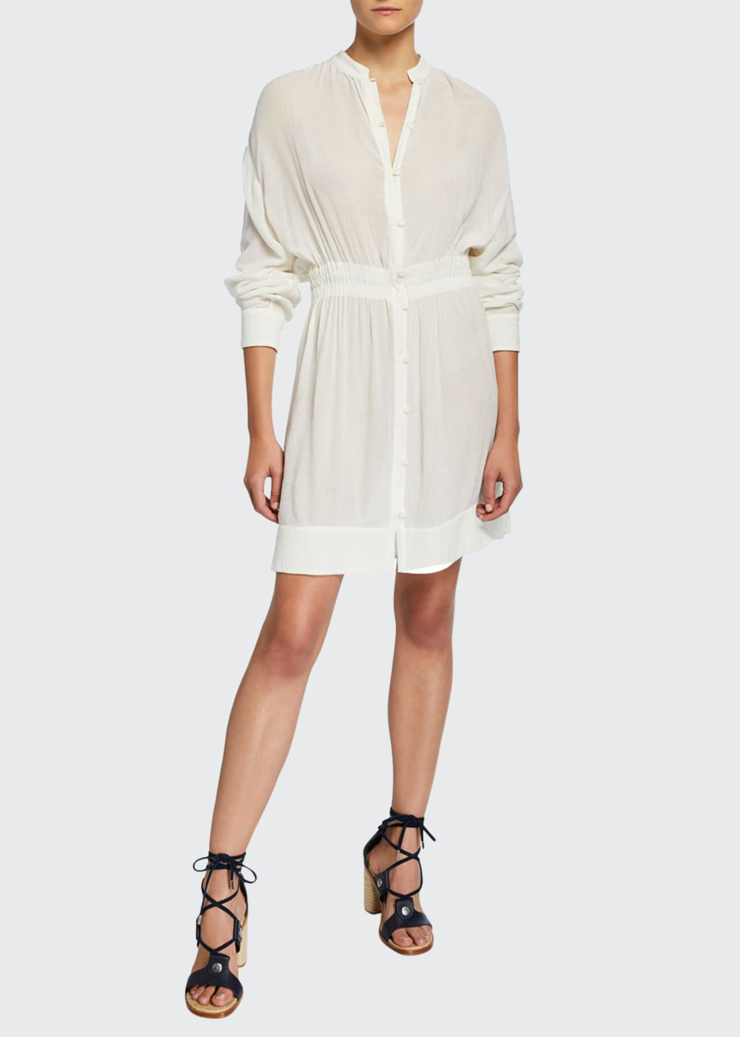 Rag & Bone Elish Long-Sleeve Crinkle Dress with