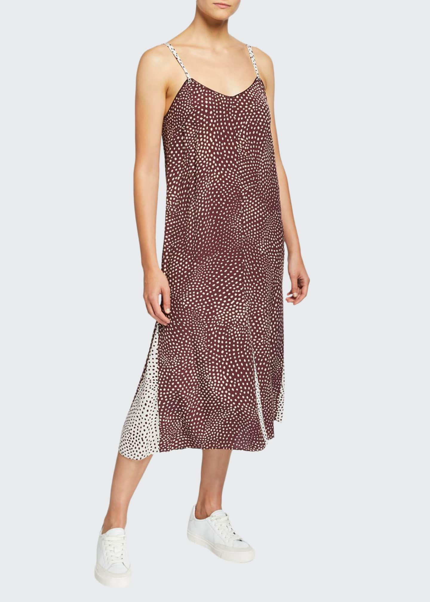 Rag & Bone Dirdre Colorblock Dotted Tank Dress