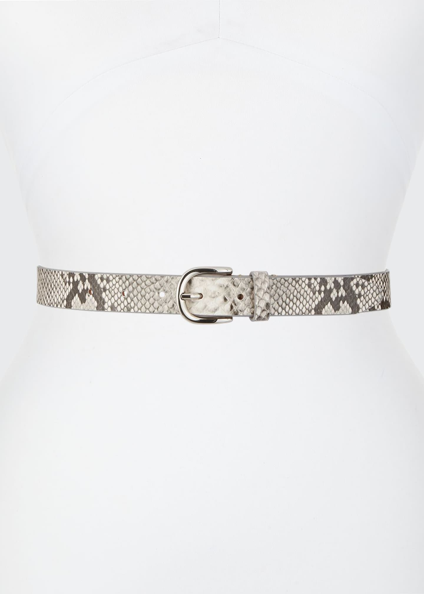 Etoile Isabel Marant Zap Snake-Print Leather Belt