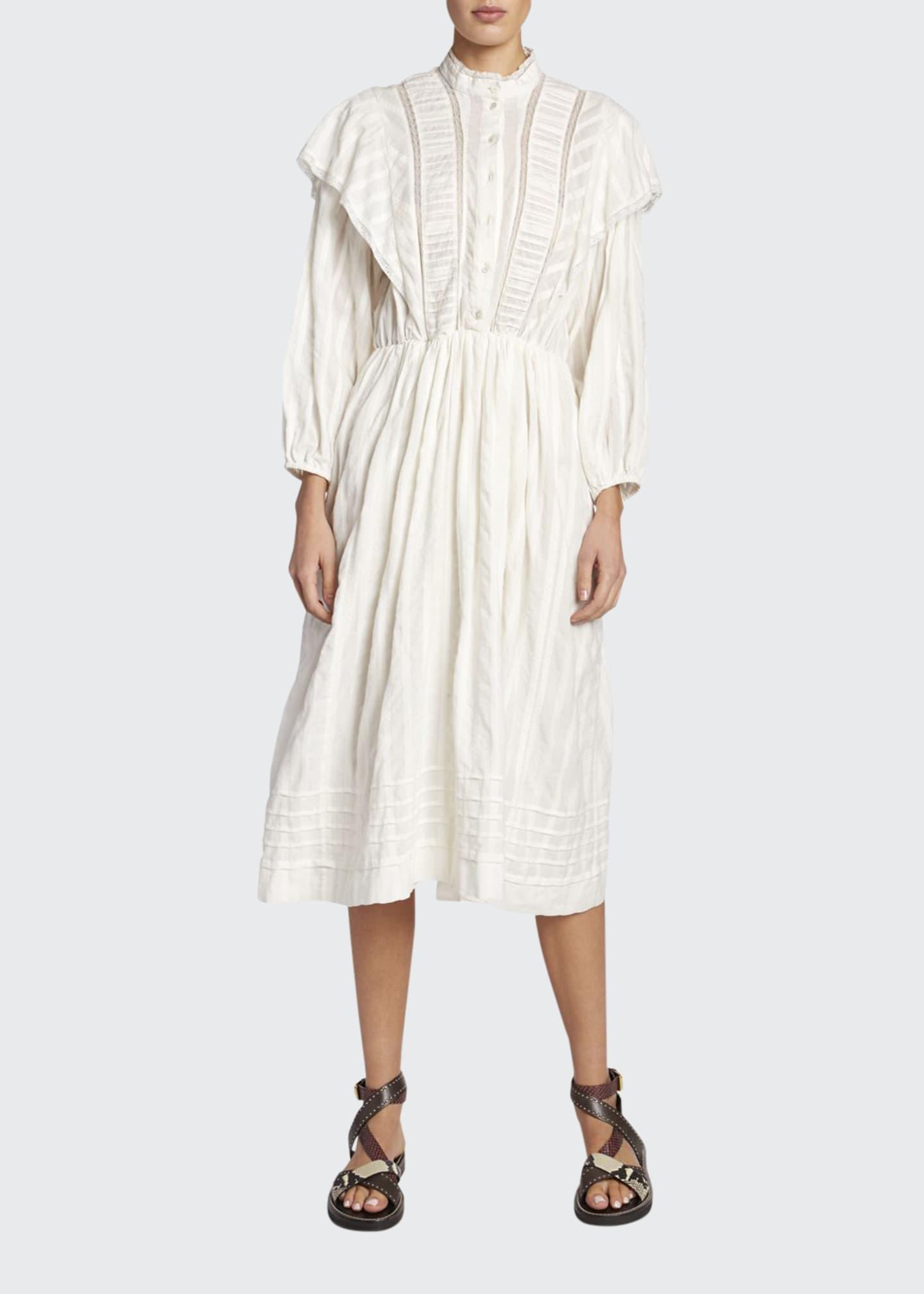 Etoile Isabel Marant Paolina Poplin Peasant Shirtdress
