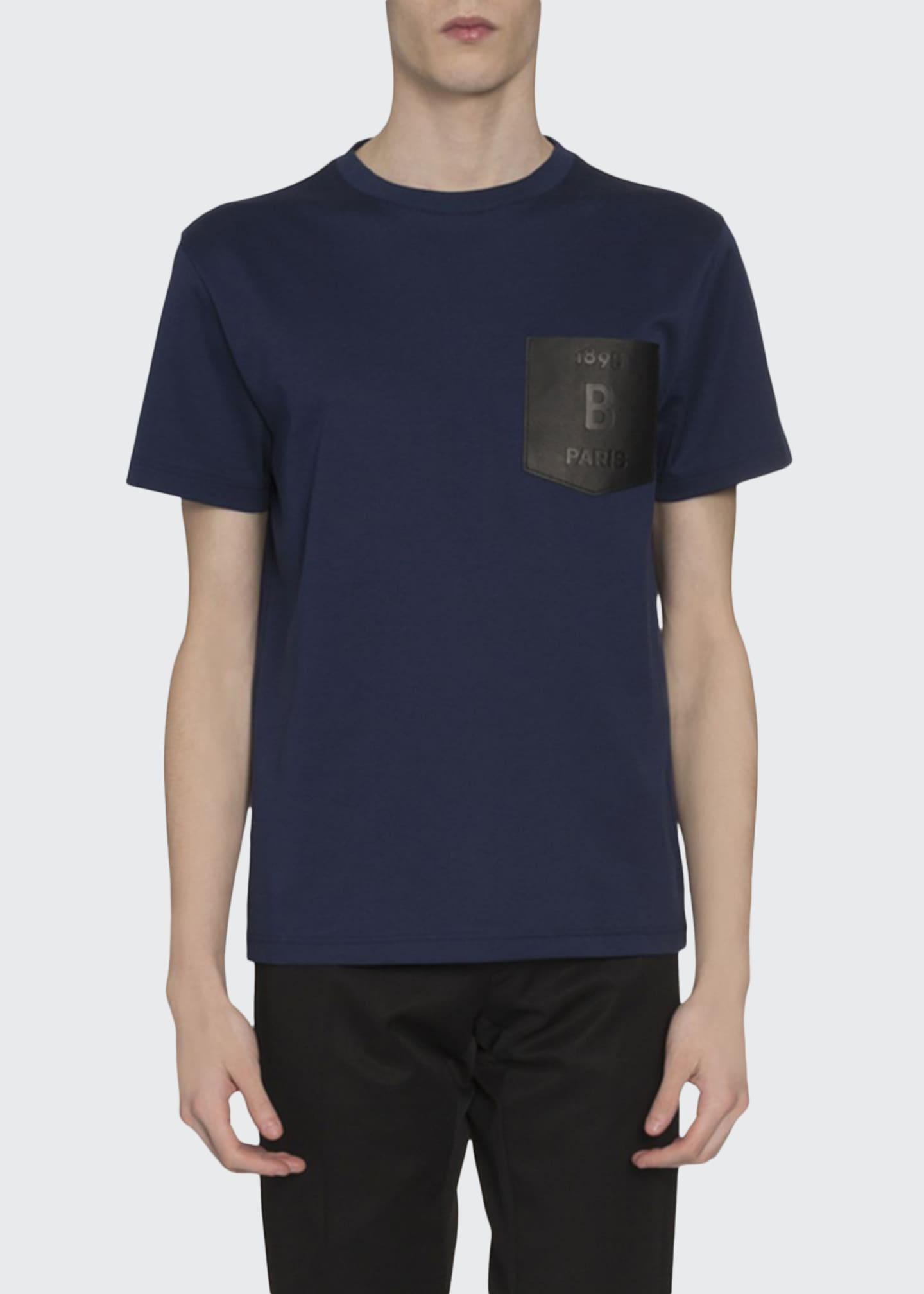 Berluti Men's Leather-Pocket T-Shirt