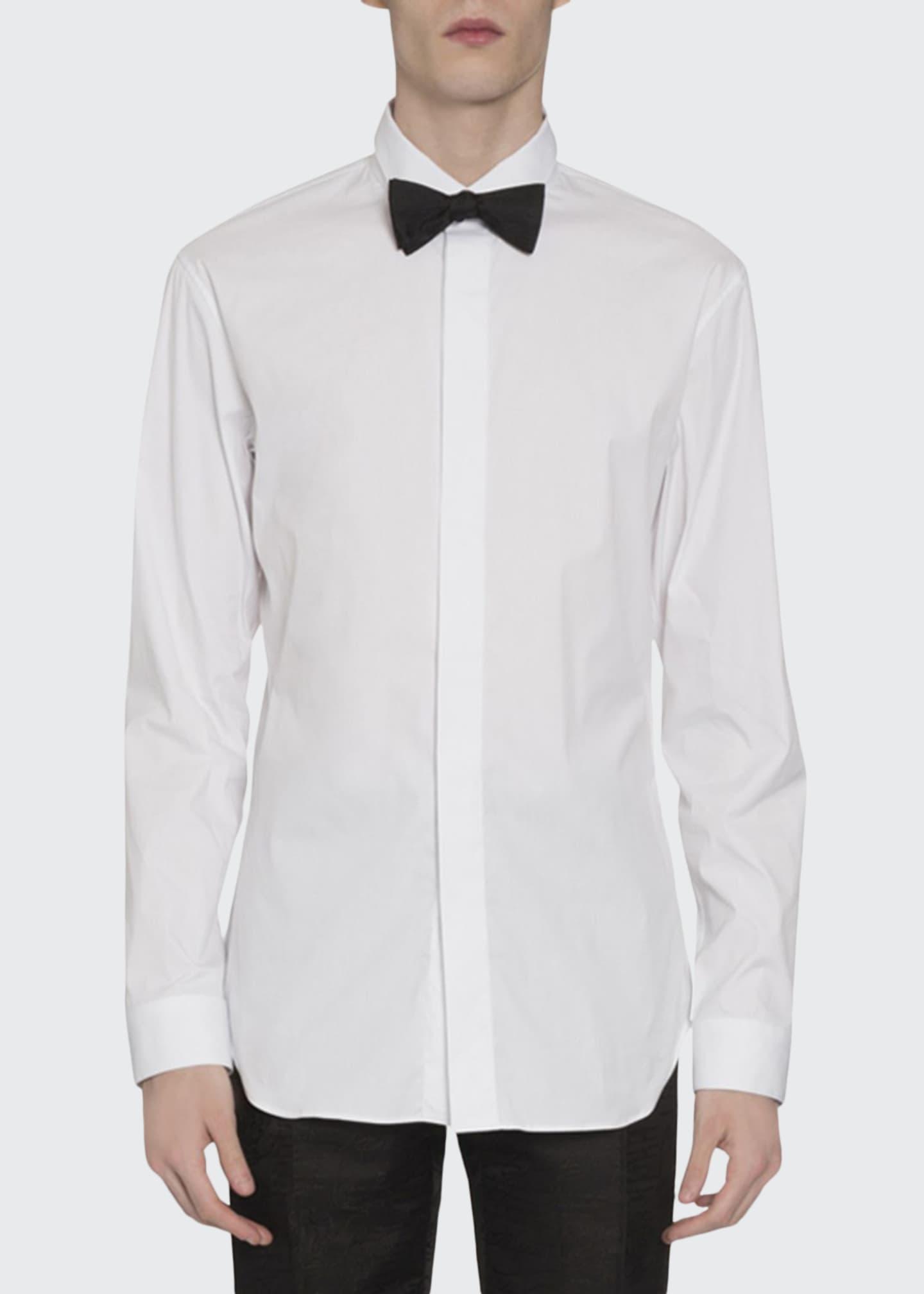 Berluti Men's Scritto Stripe Dress Shirt w/ Hidden